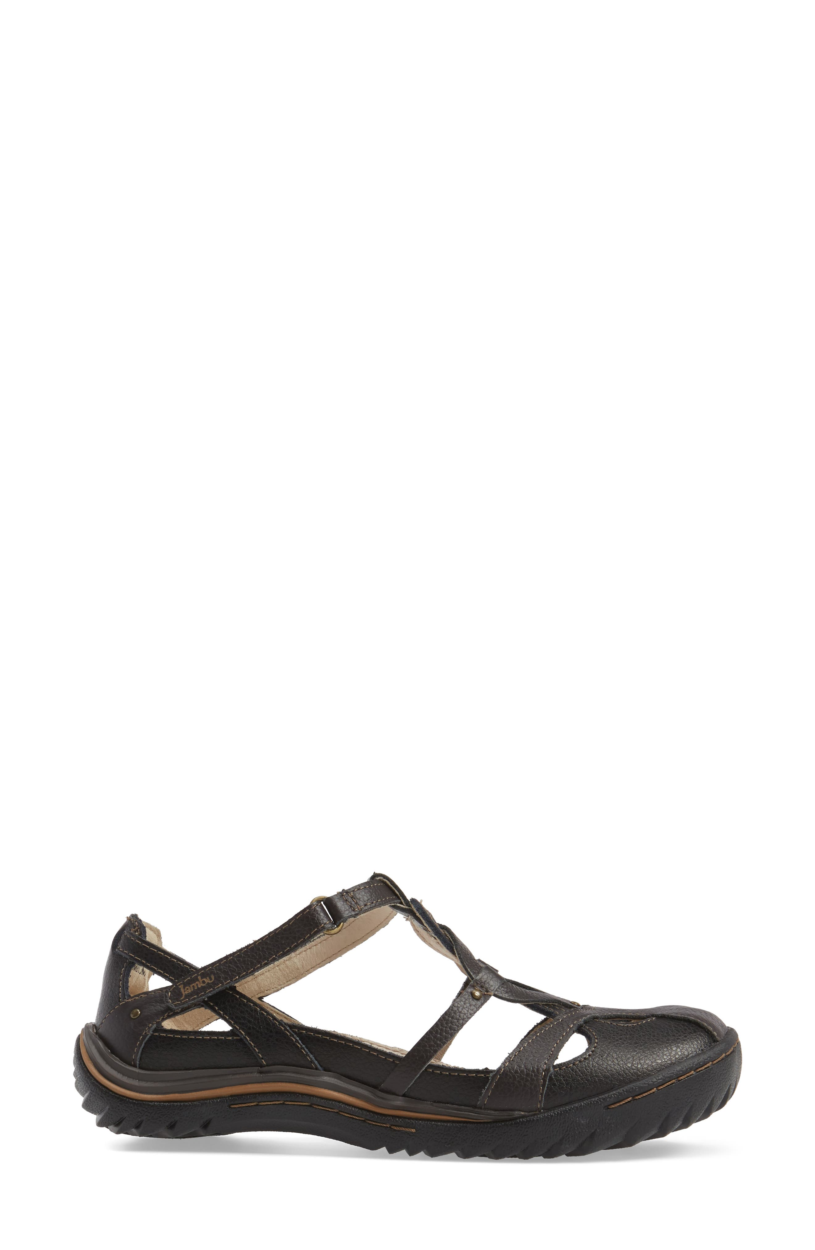 Spain Studded Strappy Sneaker,                             Alternate thumbnail 3, color,                             BLACK LEATHER