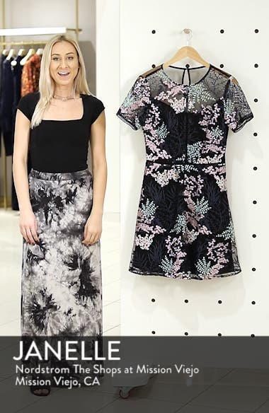 Embroidered Lace A-Line Dress, sales video thumbnail