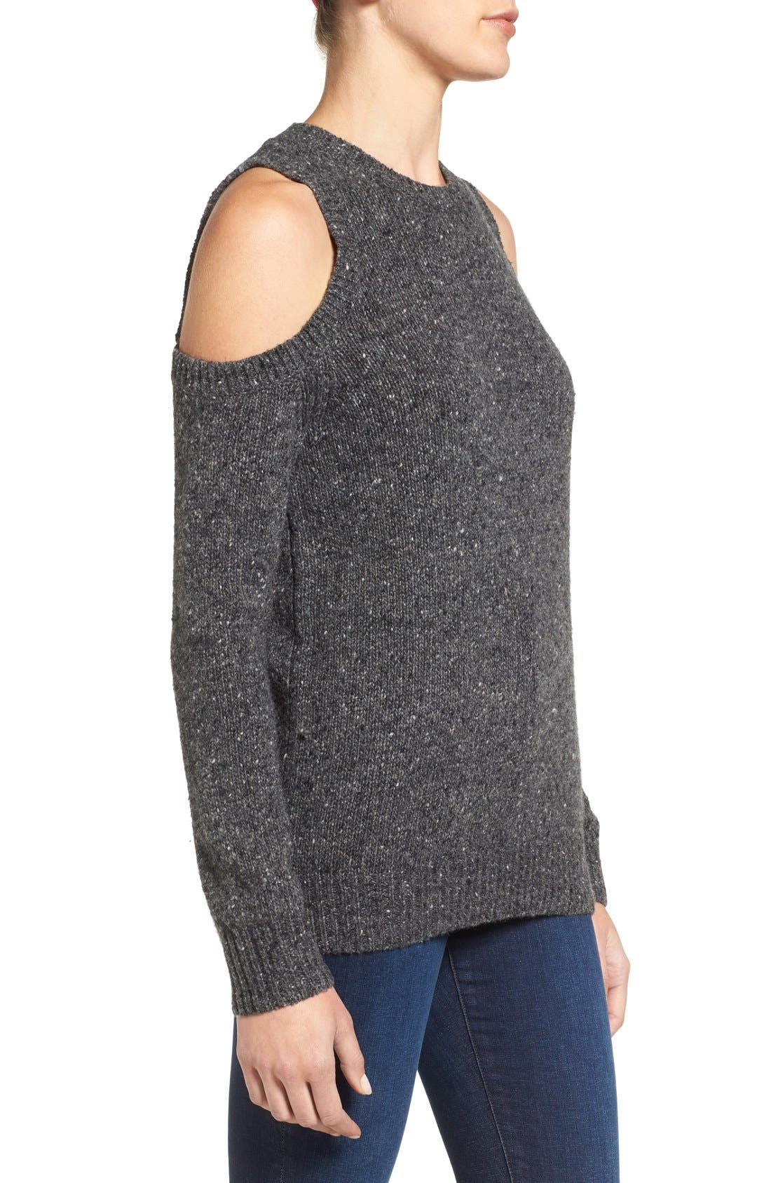 'Chapter' Cold Shoulder Sweater,                             Alternate thumbnail 3, color,                             020