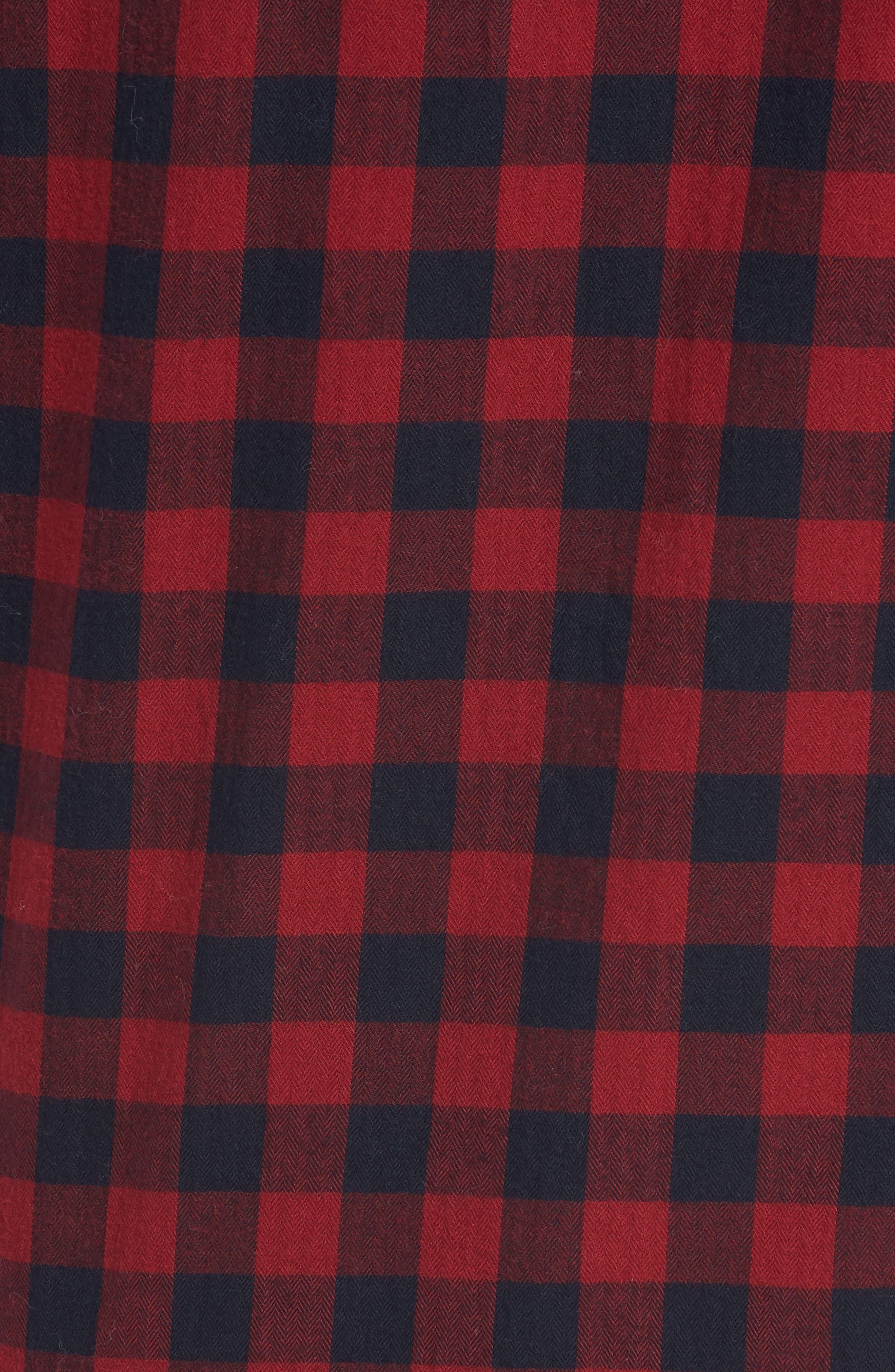 Unbutton Down Slim Fit Sport Shirt,                             Alternate thumbnail 5, color,                             GARNET