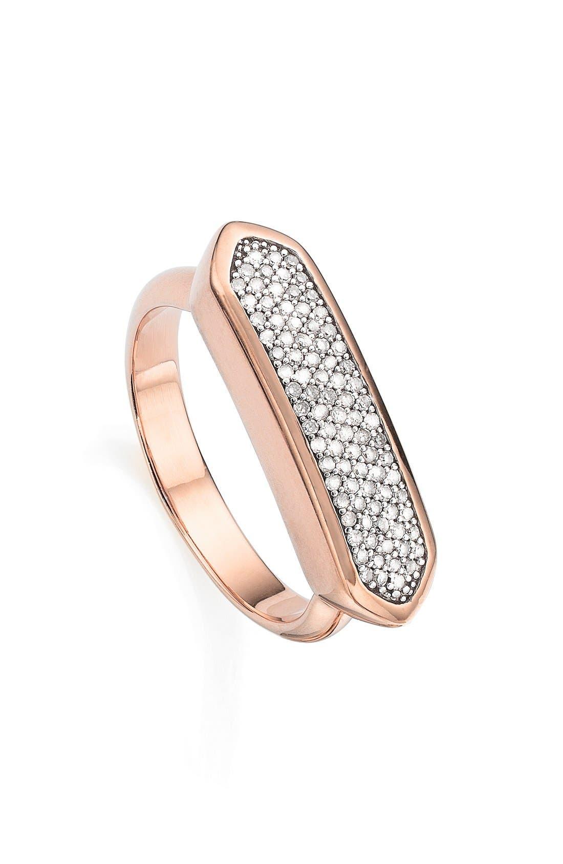 'Baja' Stone Ring,                             Main thumbnail 1, color,                             ROSE GOLD/ DIAMOND