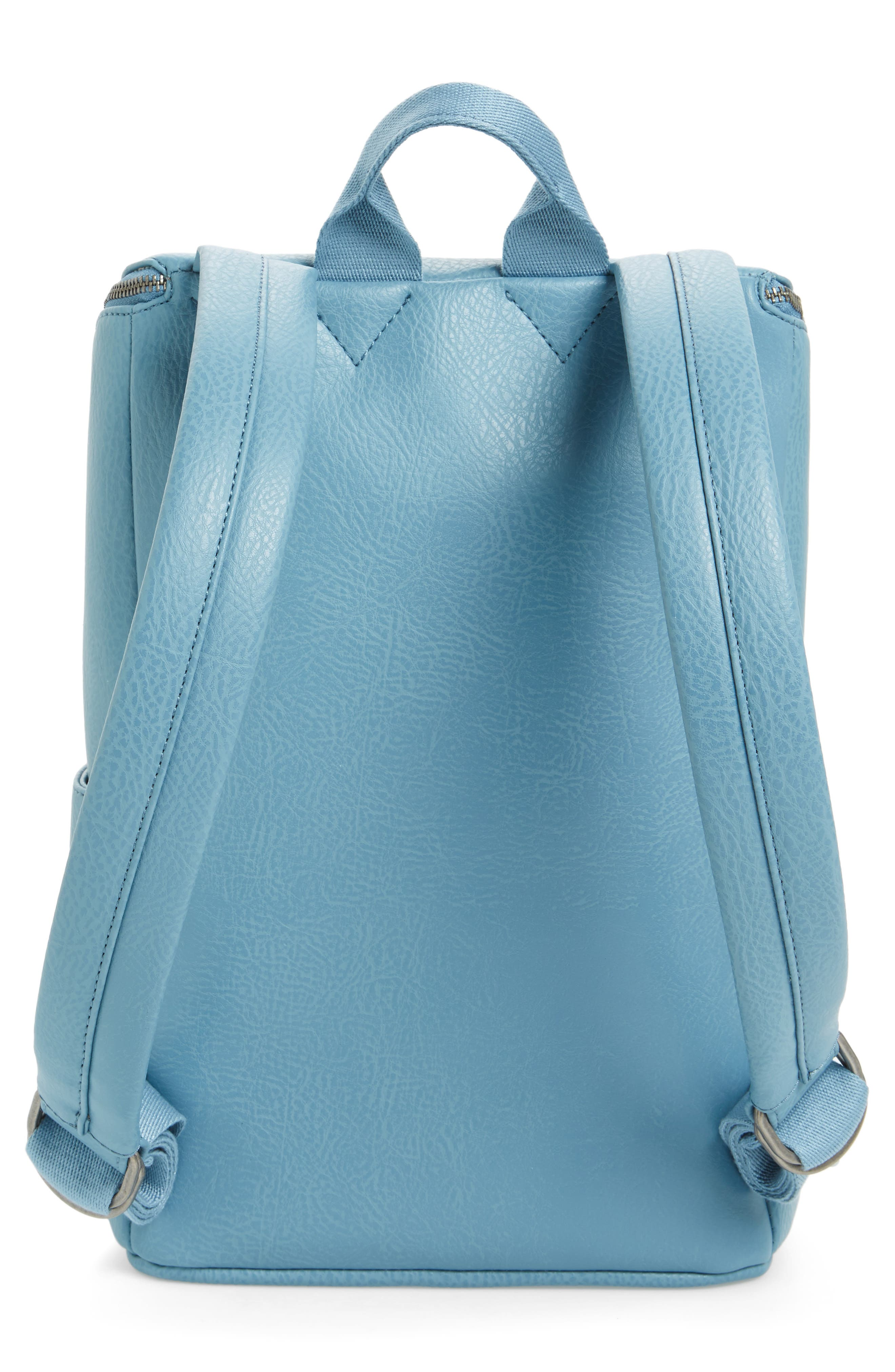 'Brave' Faux Leather Backpack,                             Alternate thumbnail 46, color,