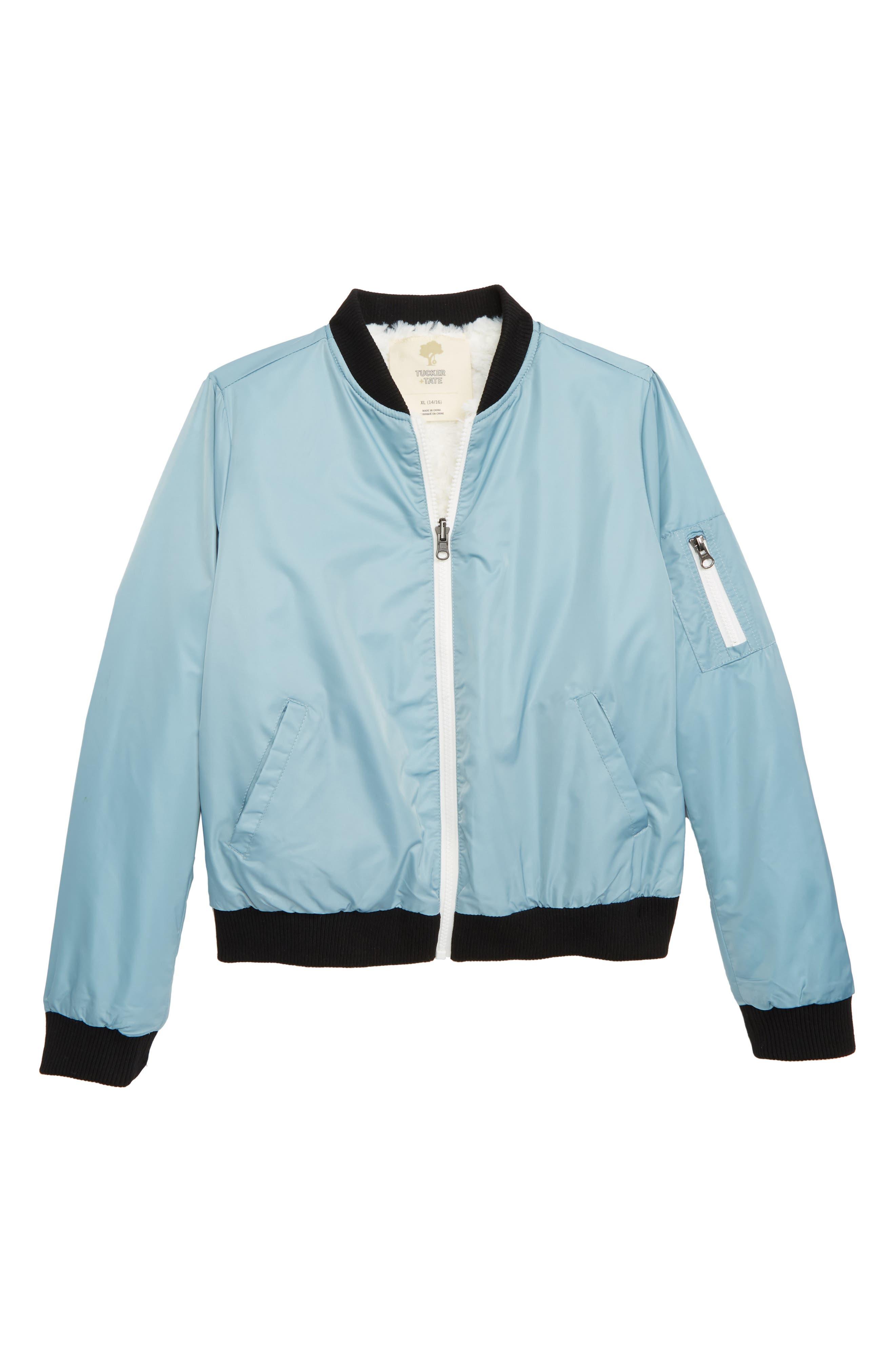 Reversible Faux Fur Bomber Jacket,                             Main thumbnail 1, color,                             450