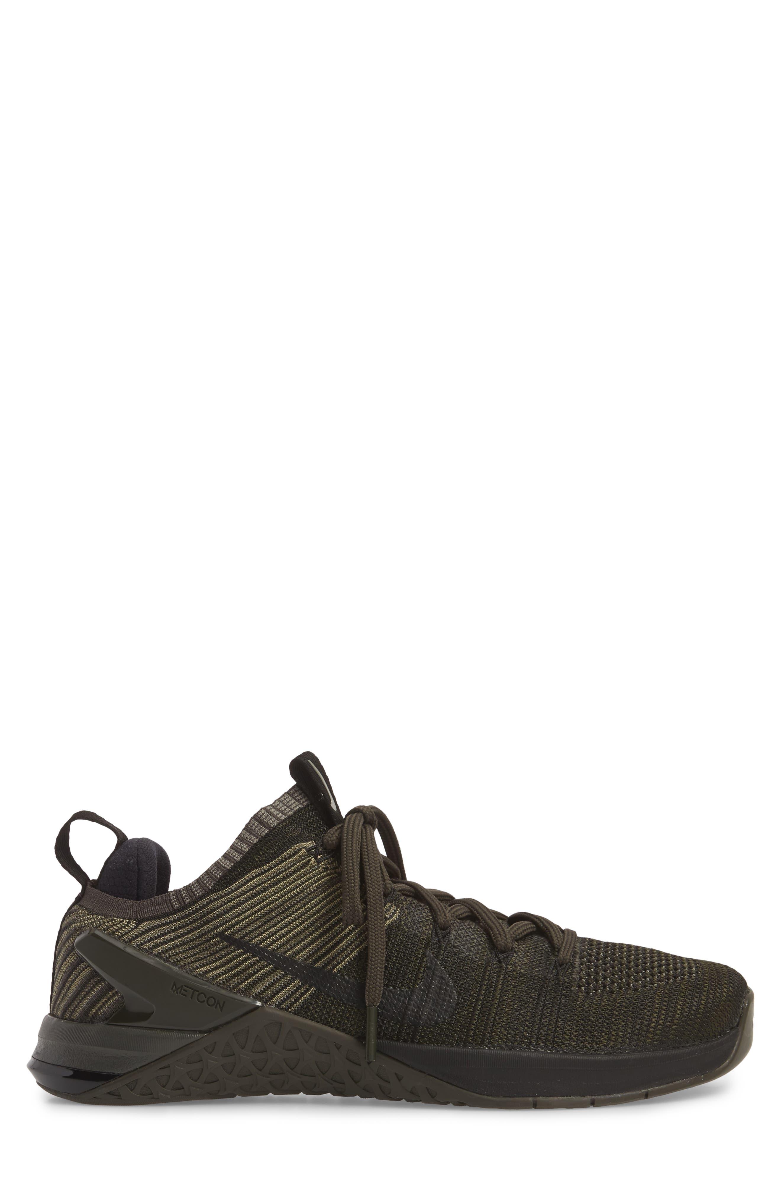 Metcon DSX Flyknit 2 Training Shoe,                             Alternate thumbnail 3, color,                             DARK STUCCO/ BLACK/ NEWSPRINT