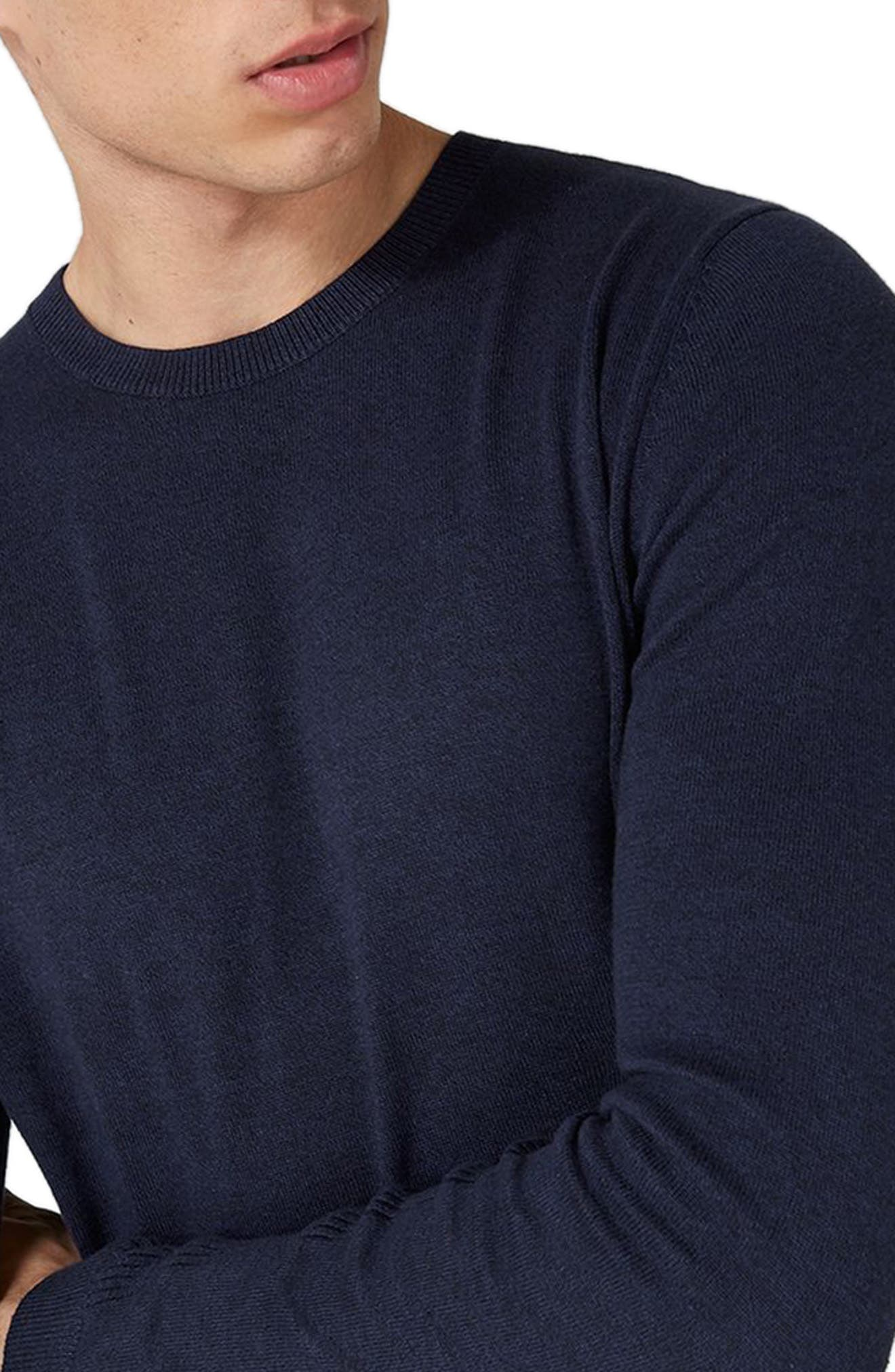 Side Ribbed Slim Fit Sweater,                             Alternate thumbnail 21, color,