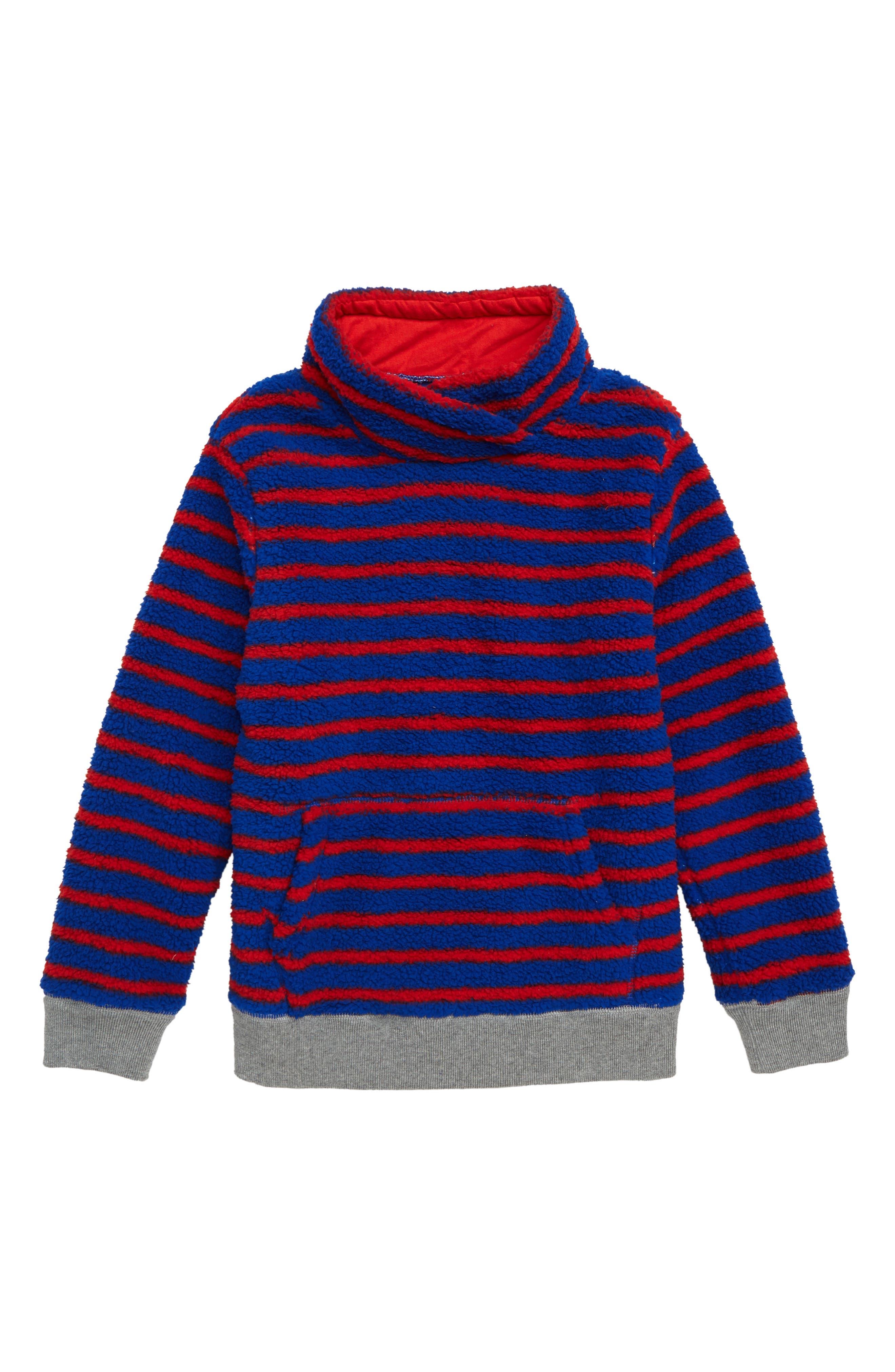 Boys Mini Boden Cosy Teddy Pullover Sweatshirt