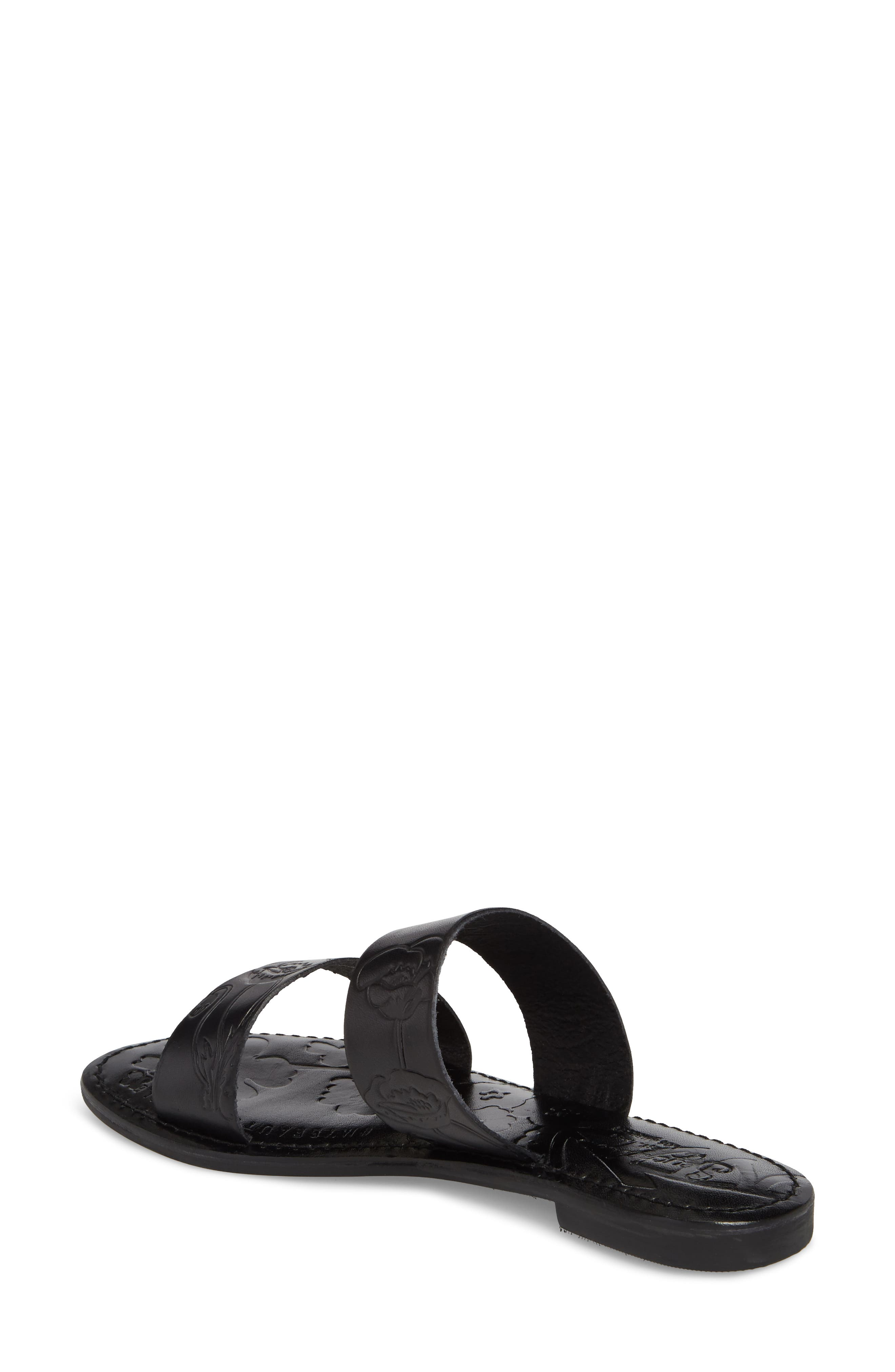 Sheroes Slide Sandal,                             Alternate thumbnail 2, color,                             BLACK LEATHER
