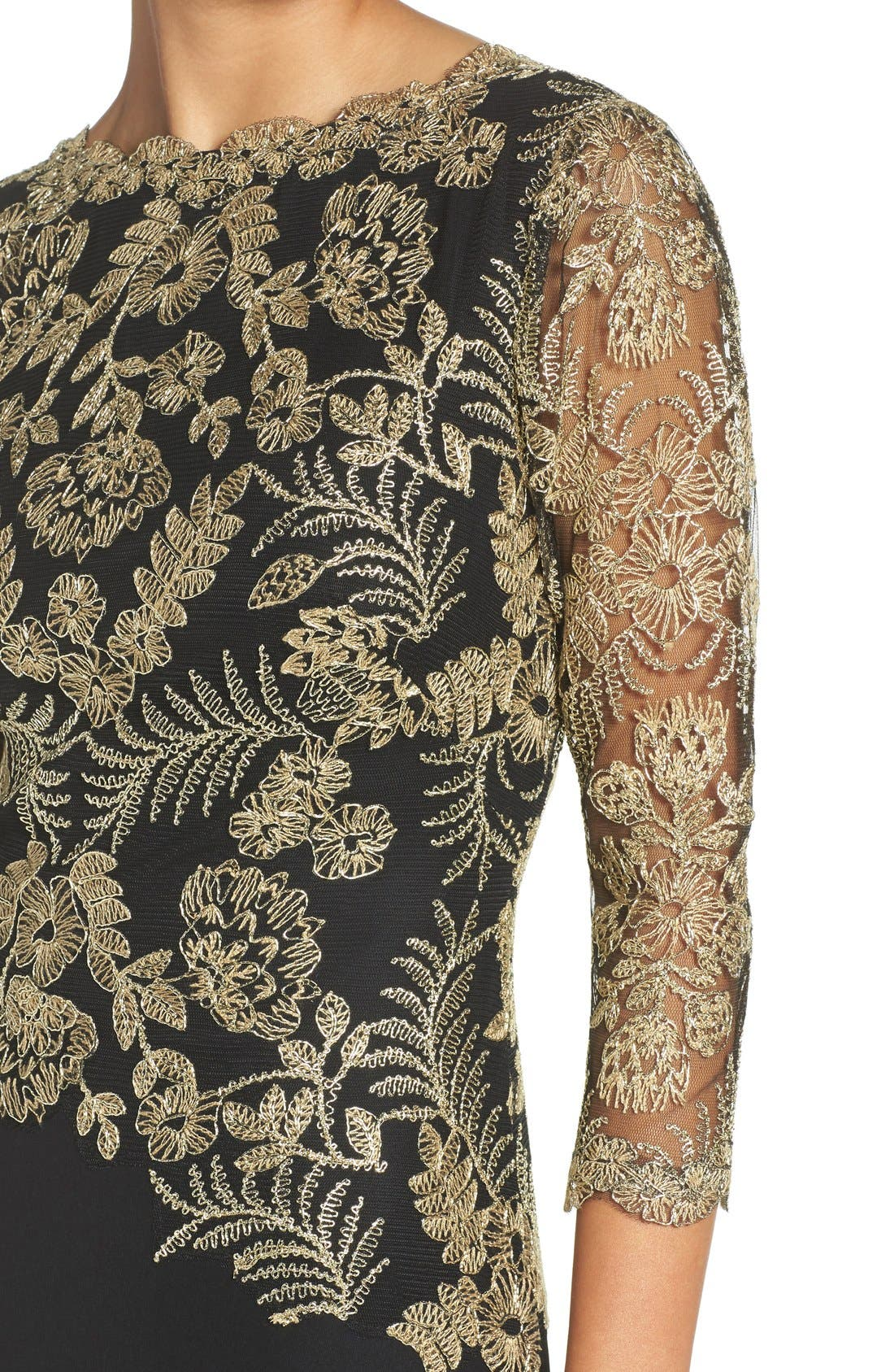 Embroidered Woven Gown,                             Alternate thumbnail 12, color,