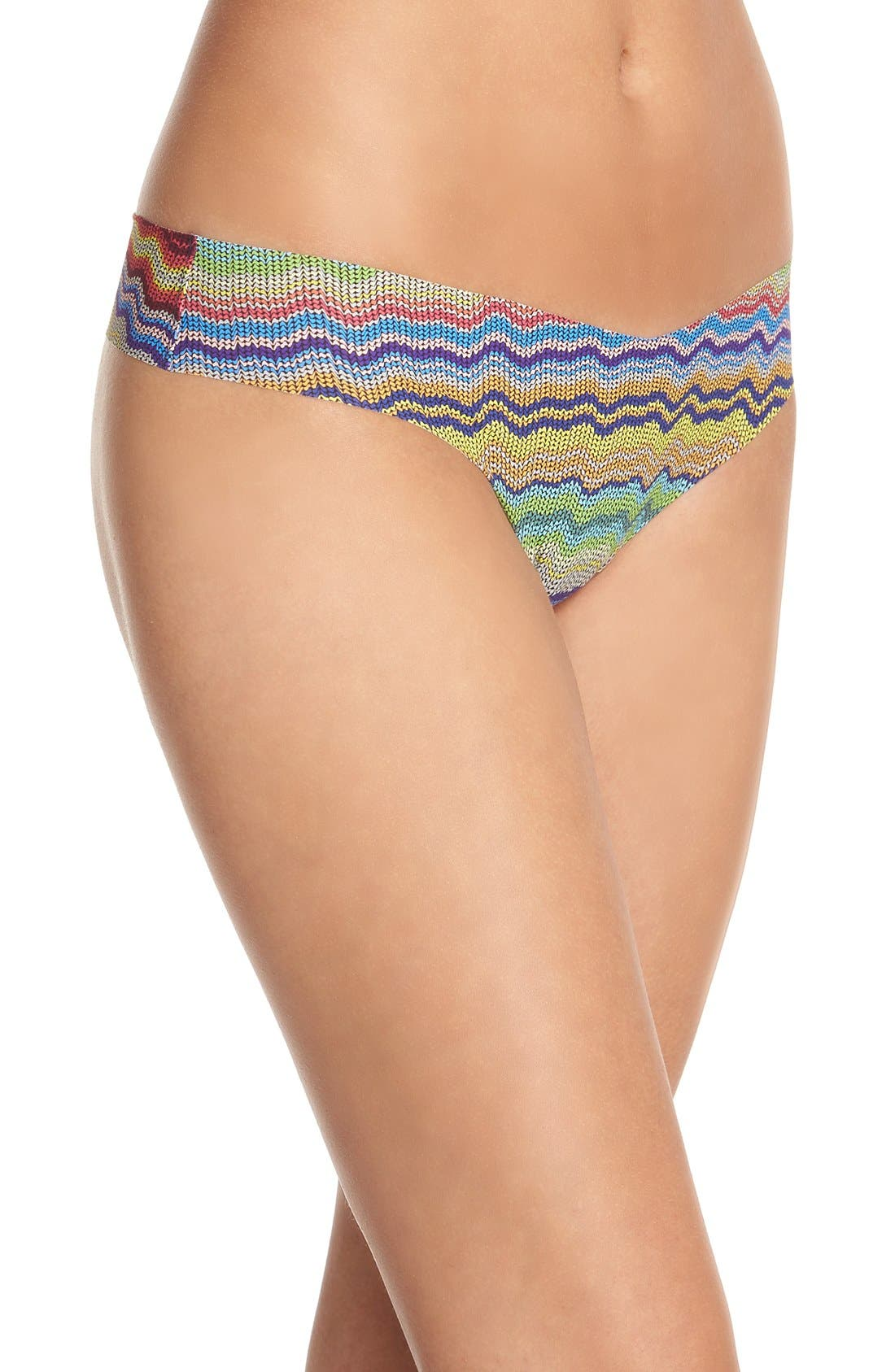 Print Microfiber Thong,                             Alternate thumbnail 301, color,