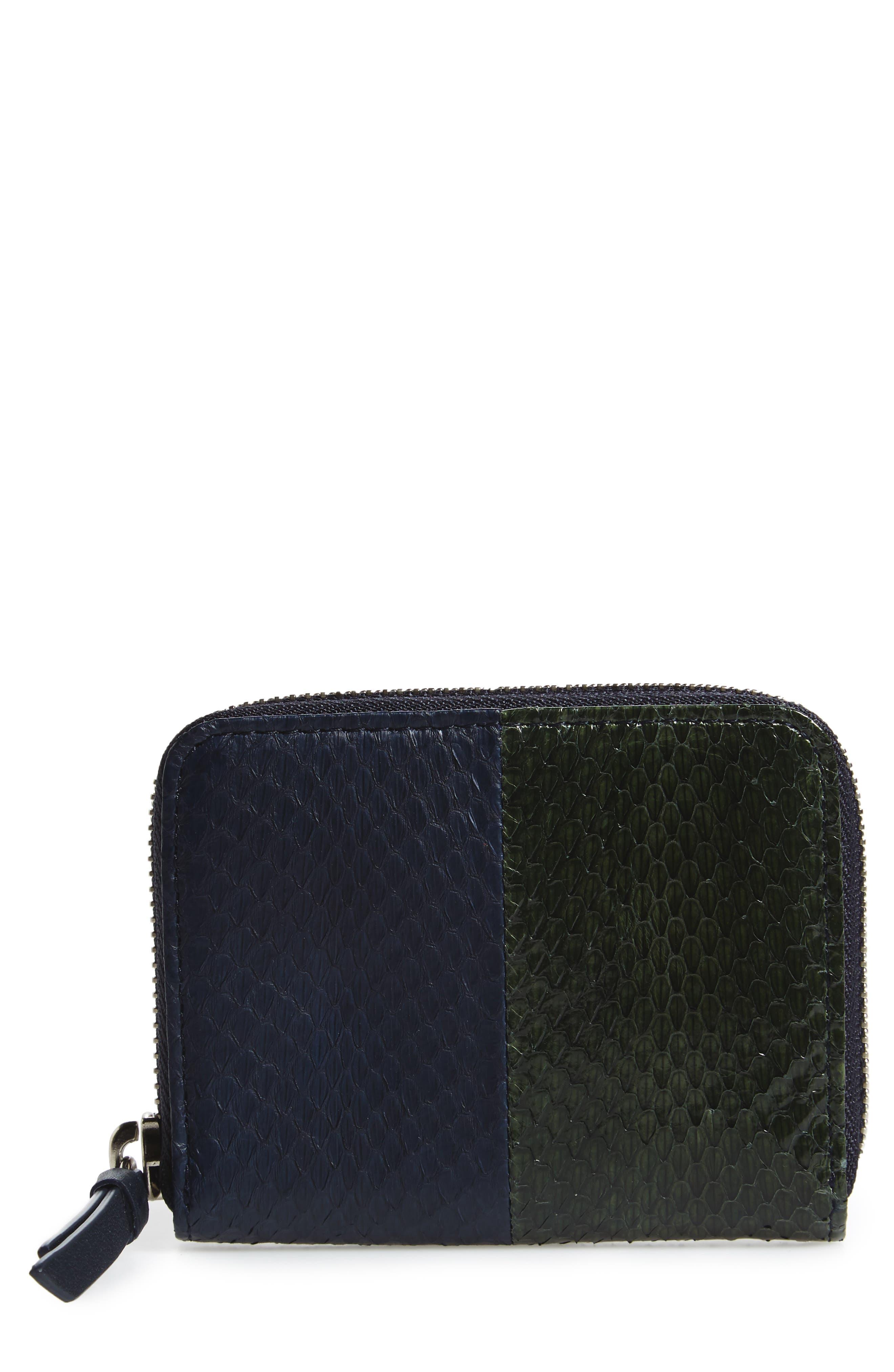 Ikuya Leather & Genuine Snakeskin Wallet,                         Main,                         color, 405