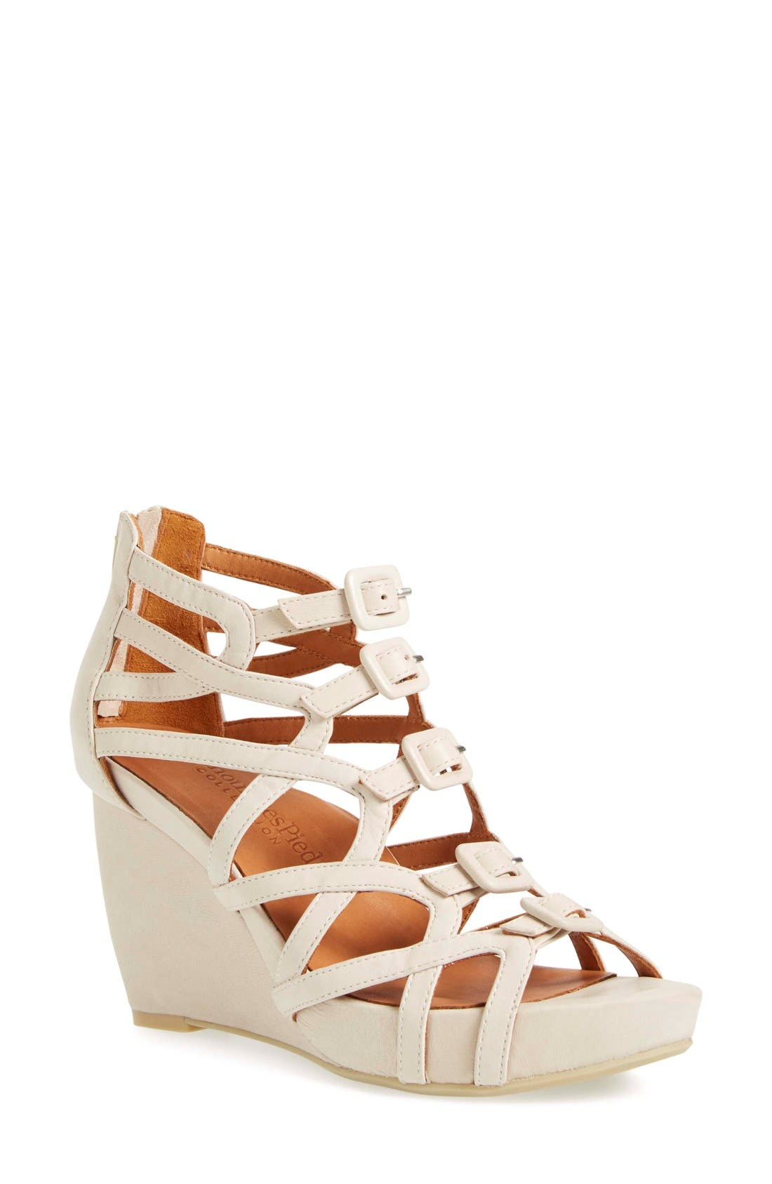 Ivanna' Gladiator Wedge Sandal,                         Main,                         color,