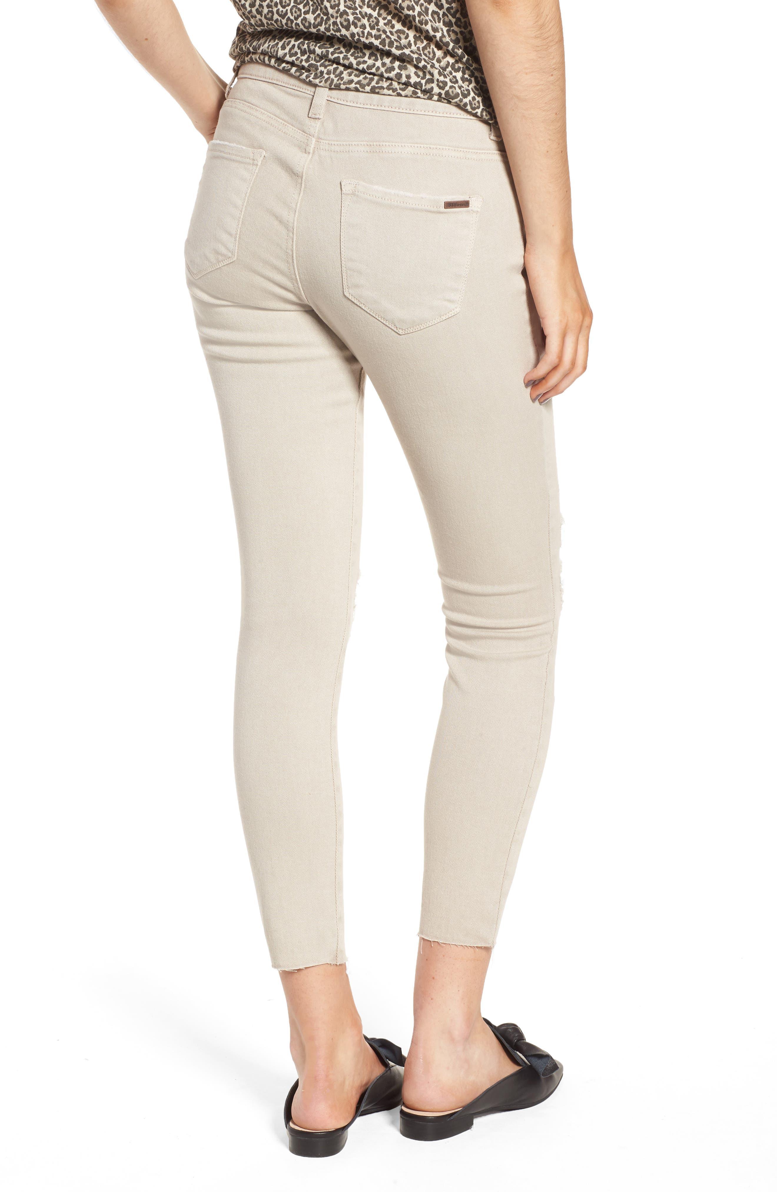 Emma Distressed Raw Hem Skinny Jeans,                             Alternate thumbnail 2, color,