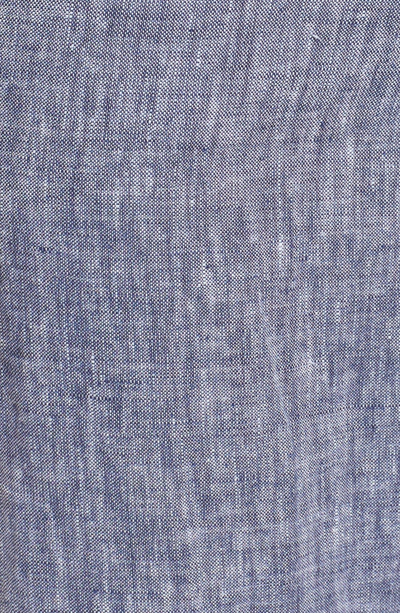 Linen Crop Pants,                             Alternate thumbnail 5, color,                             411