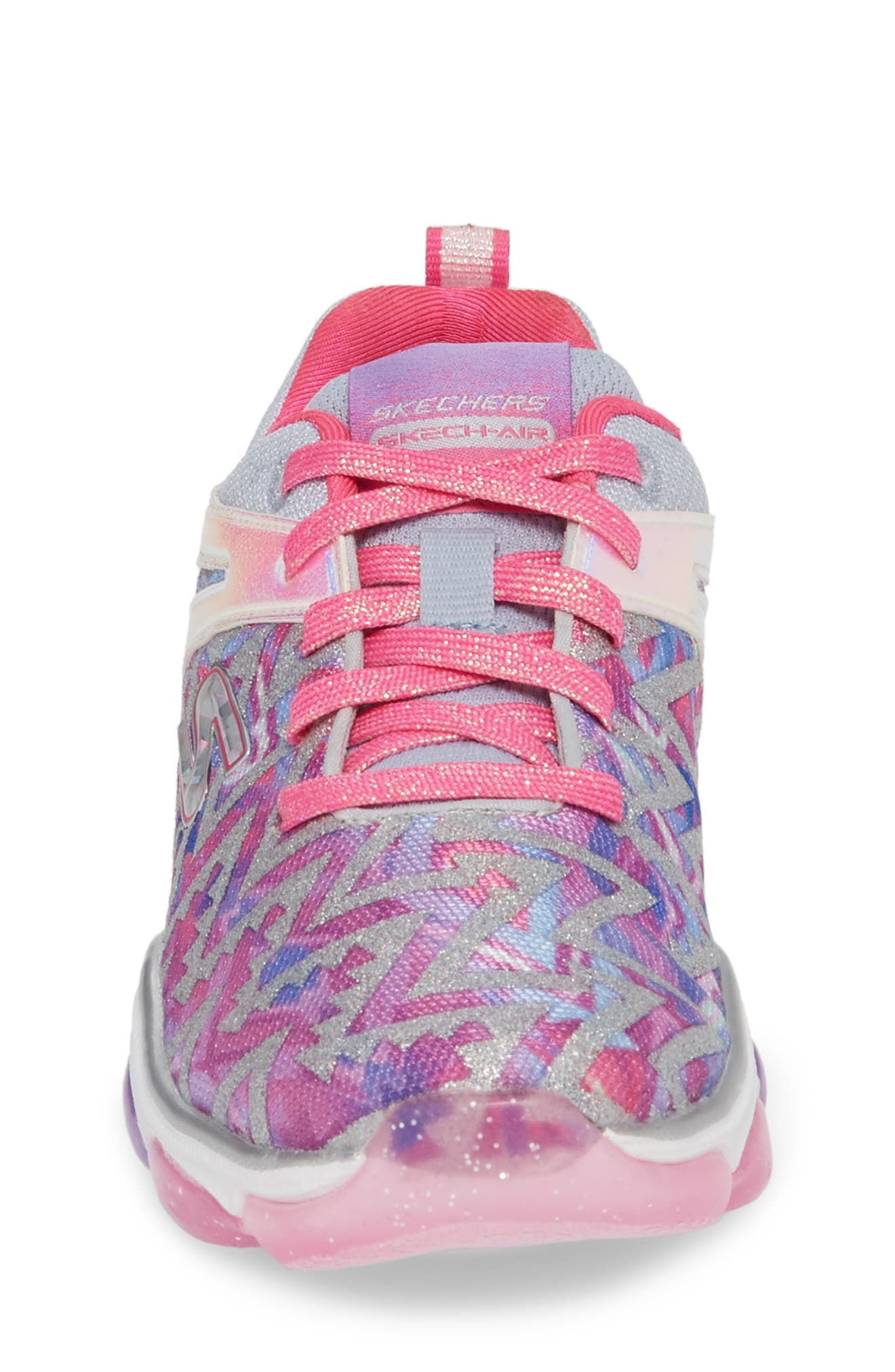 Skech Air Groove Glitter Sneaker,                             Alternate thumbnail 4, color,                             PINK/ MULTI