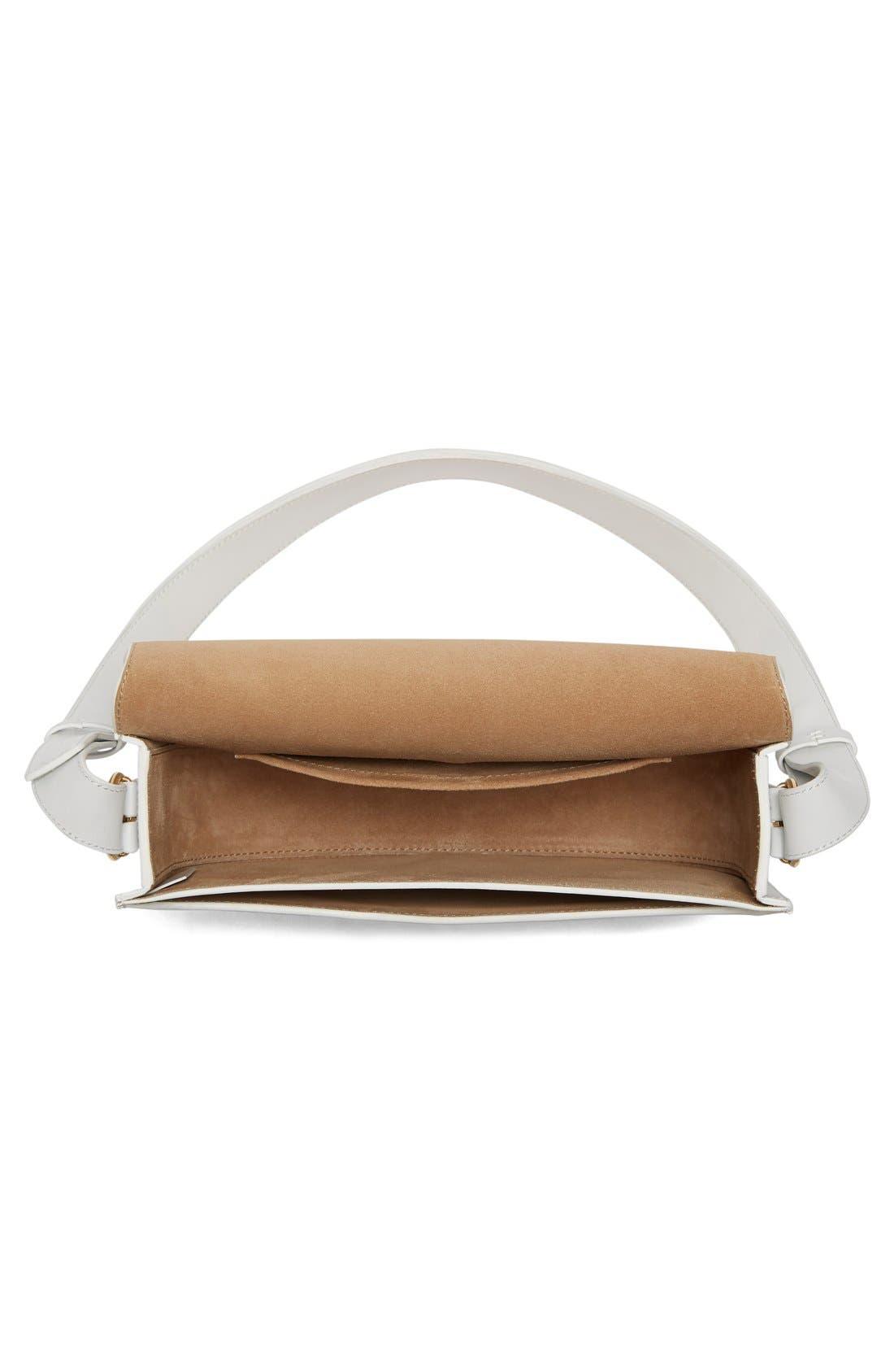 Half Moon Box Shoulder Bag,                             Alternate thumbnail 6, color,                             WHITE