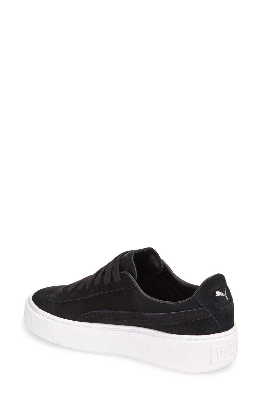 Suede Platform Sneaker,                             Alternate thumbnail 16, color,