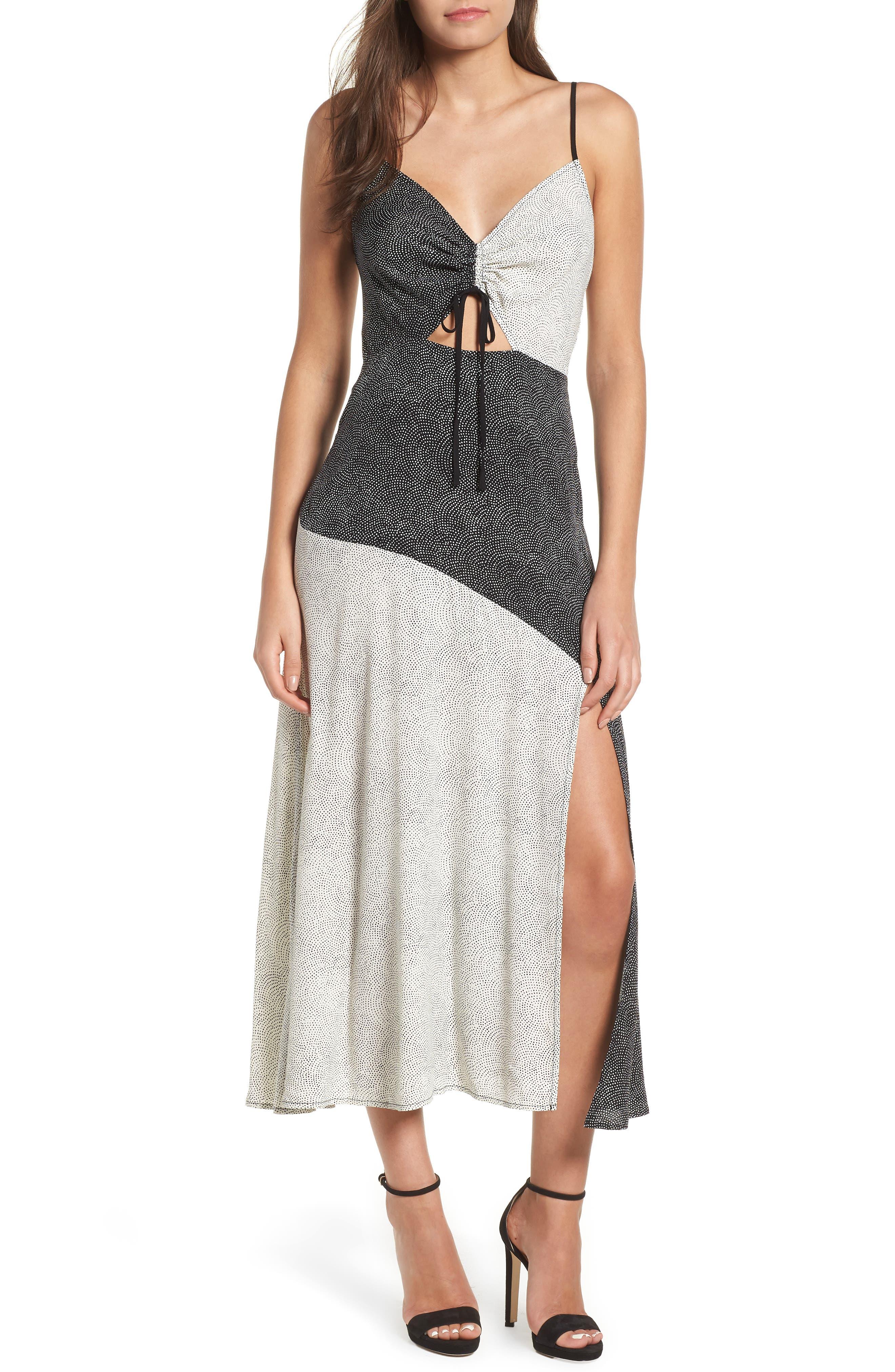 Leith Mixed Print Maxi Dress