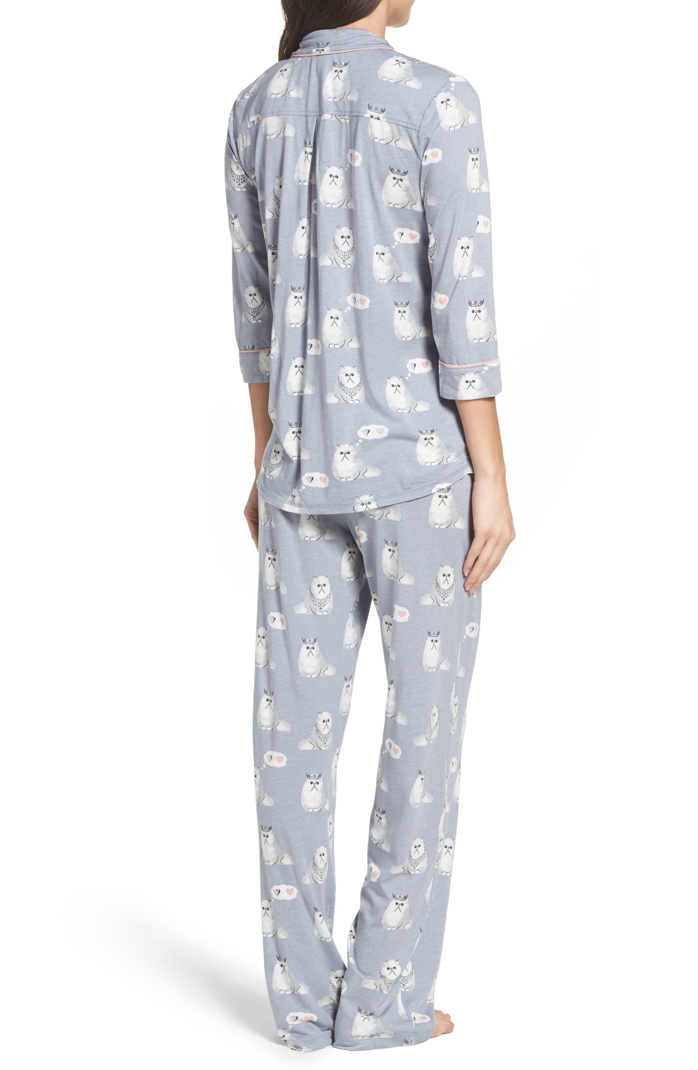 Playful Print Pajamas & Eye Mask,                             Alternate thumbnail 2, color,                             065