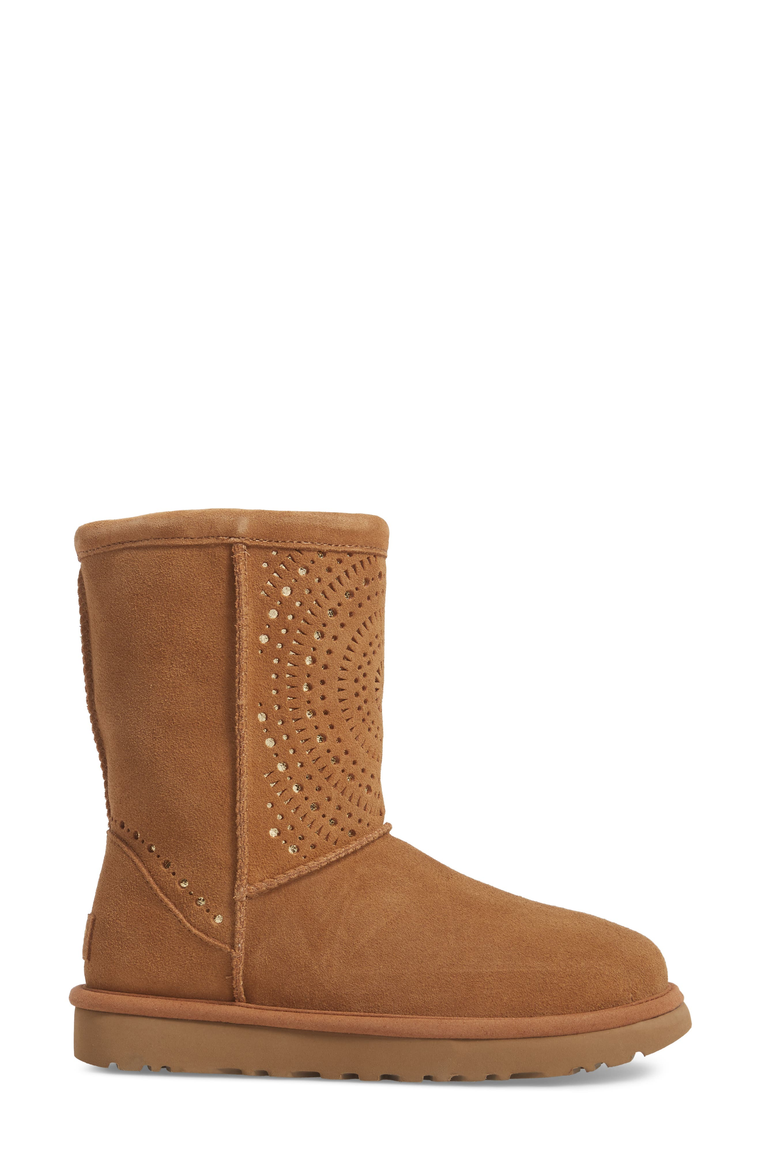 Classic Short Sunshine Perforated Boot,                             Alternate thumbnail 8, color,