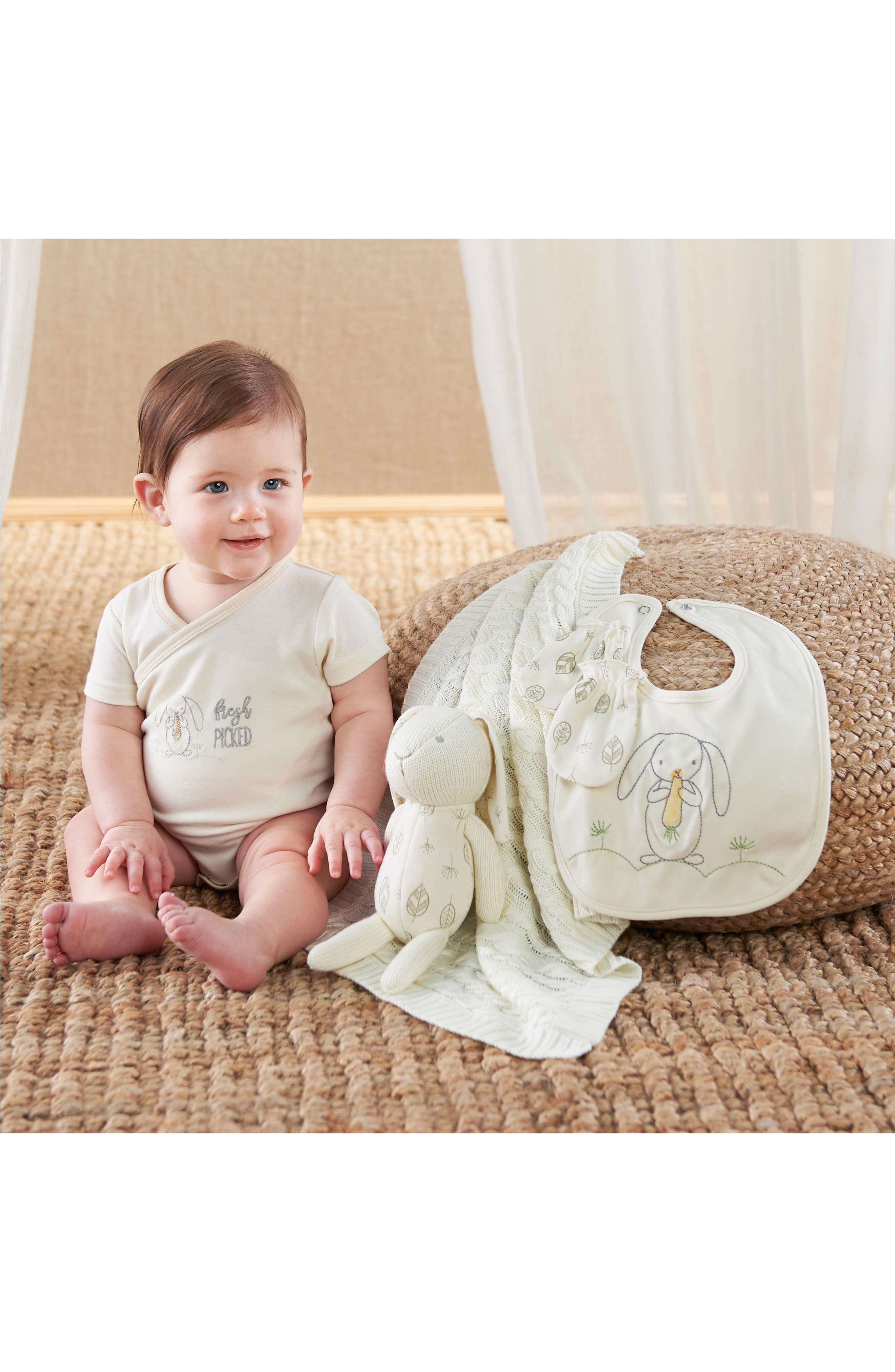 Nature Baby Welcome Home Gift Set,                             Alternate thumbnail 2, color,                             BEIGE AND GREY
