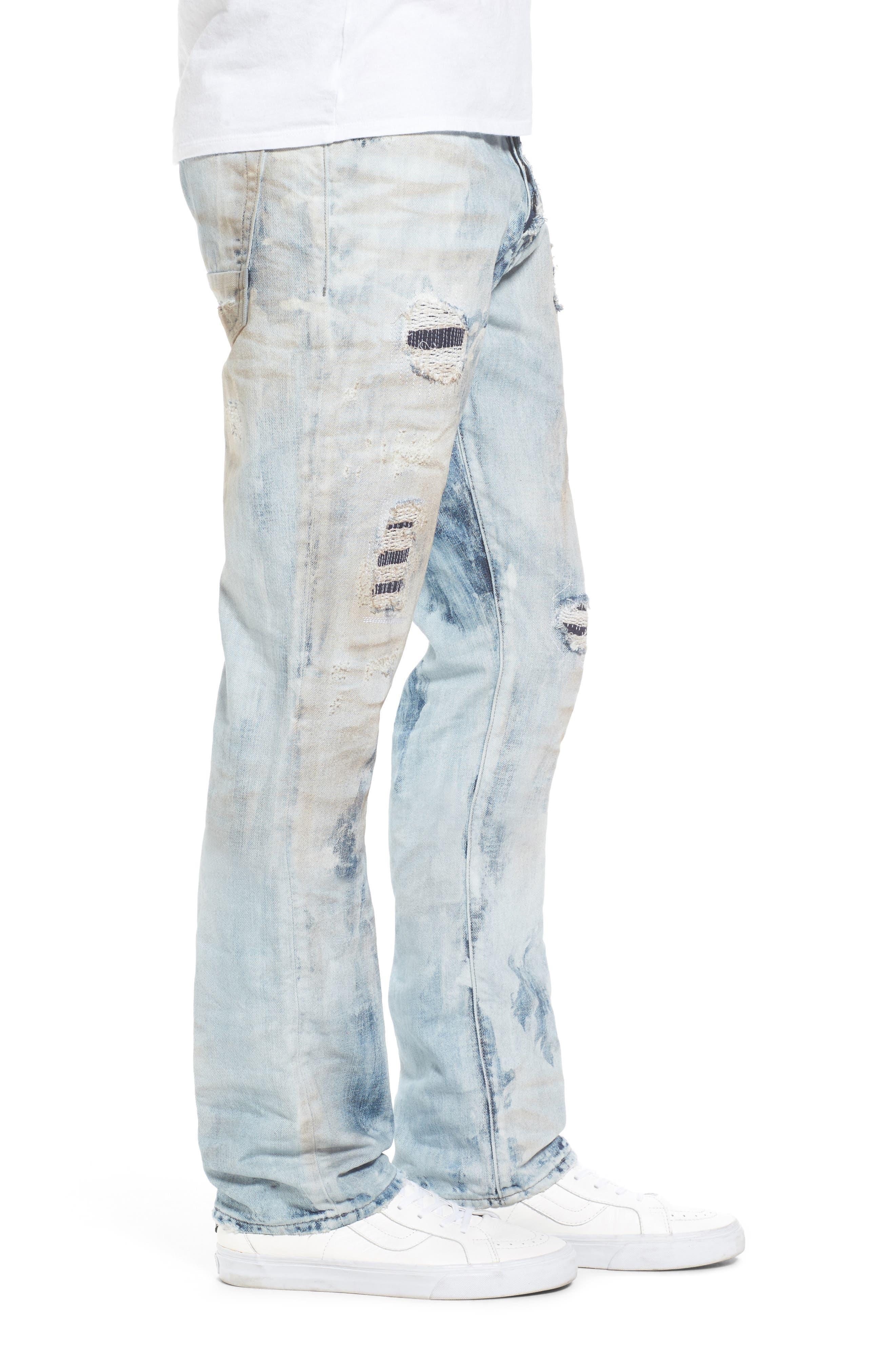Demon Slim Straight Leg Jeans,                             Alternate thumbnail 3, color,                             COZY LIGHT WASH