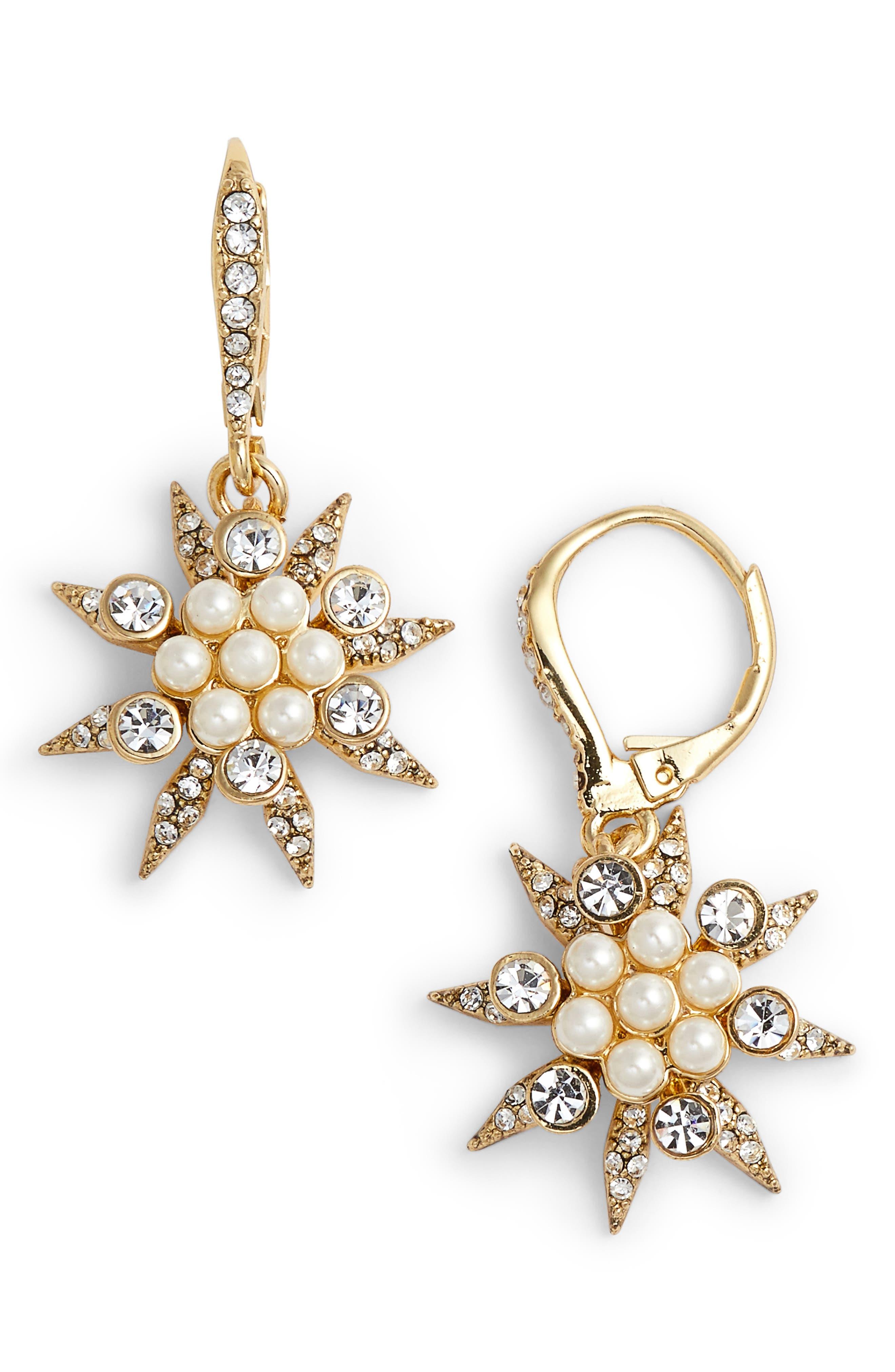 Star Cluster Drop Earrings,                             Main thumbnail 2, color,