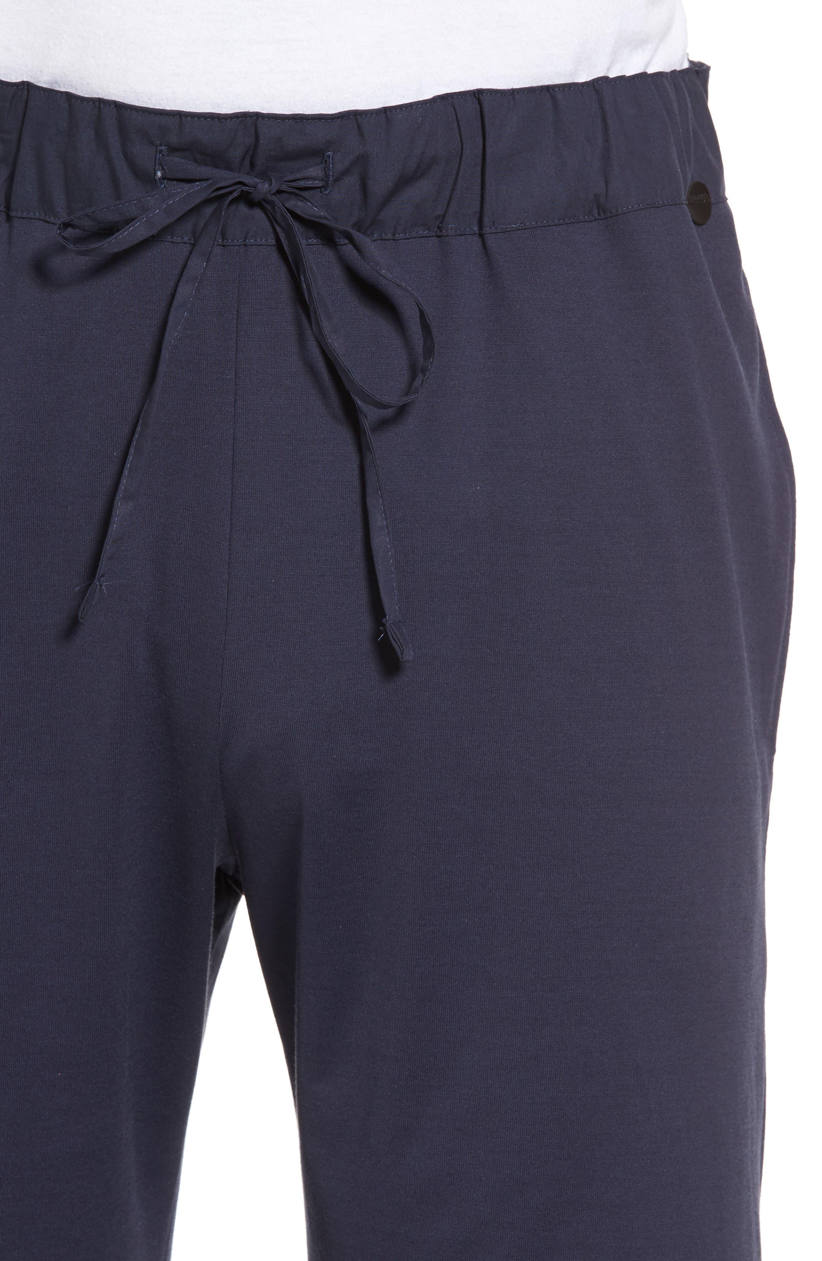 Night & Day Knit Shorts,                             Alternate thumbnail 4, color,                             BLACK IRIS