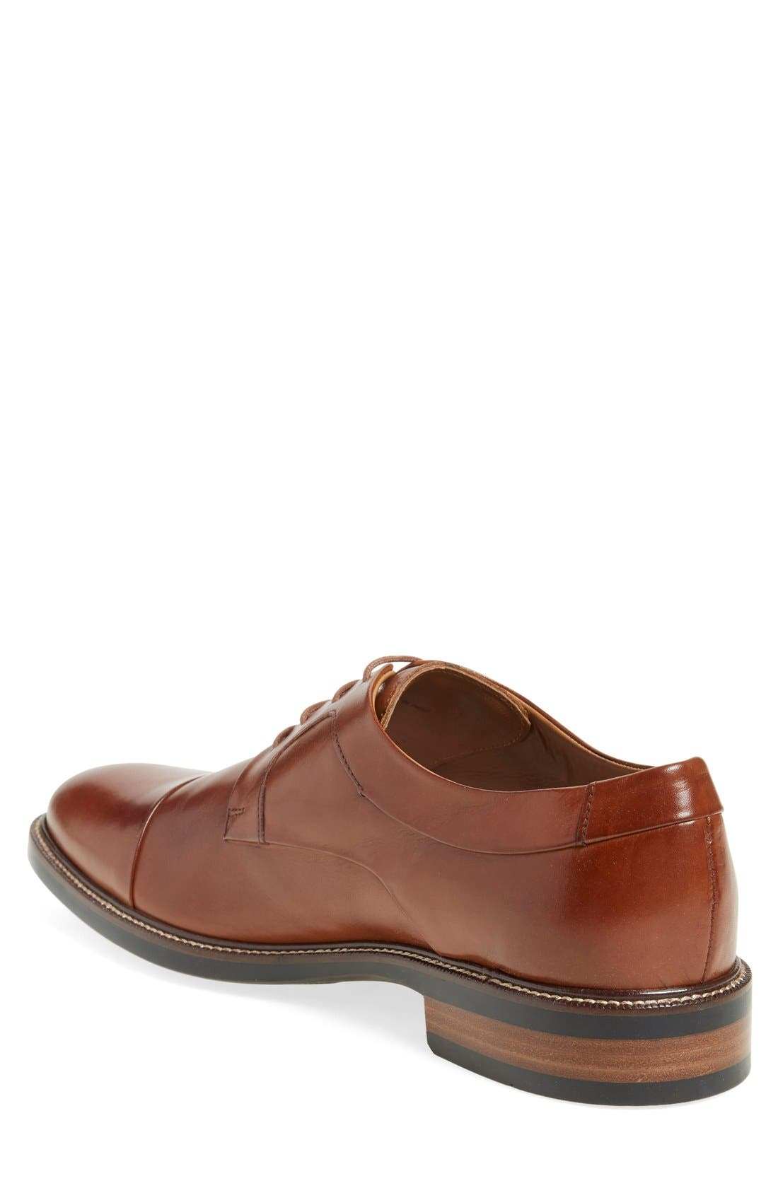 Warren Cap Toe Derby,                             Alternate thumbnail 8, color,                             BRITISH TAN LEATHER