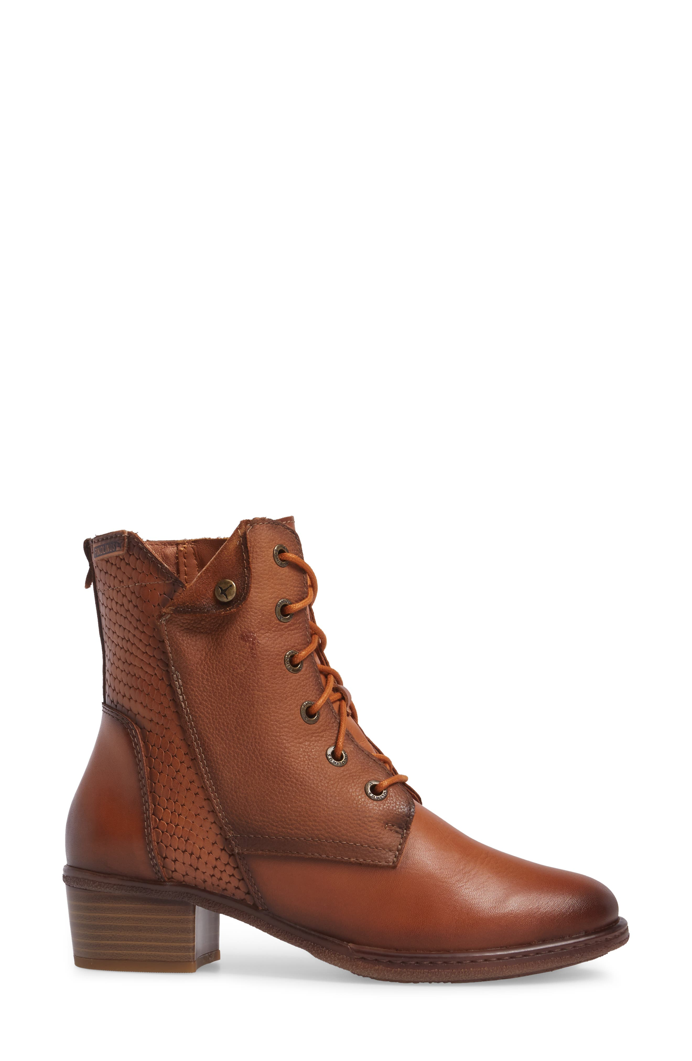 Zaragoza Water Resistant Lace-Up Boot,                             Alternate thumbnail 3, color,                             207