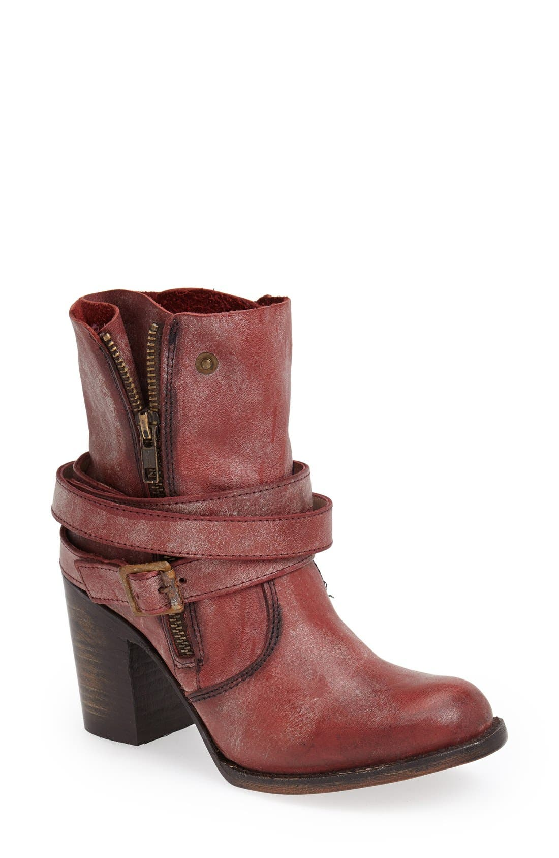'Bama' Leather Ankle Bootie,                             Main thumbnail 1, color,                             600