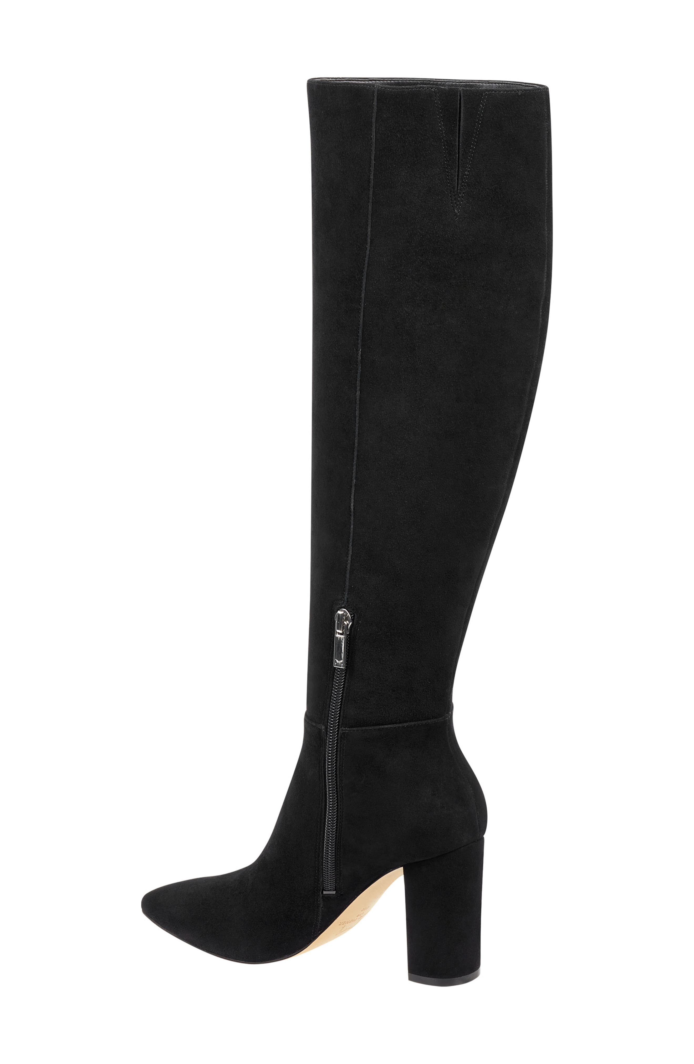 Ulana Knee High Boot,                             Alternate thumbnail 2, color,                             BLACK SUEDE