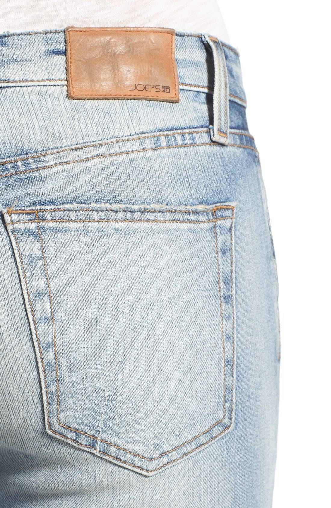 'Collector's - Billie' Ankle Slim Boyfriend Jeans,                             Alternate thumbnail 4, color,                             430