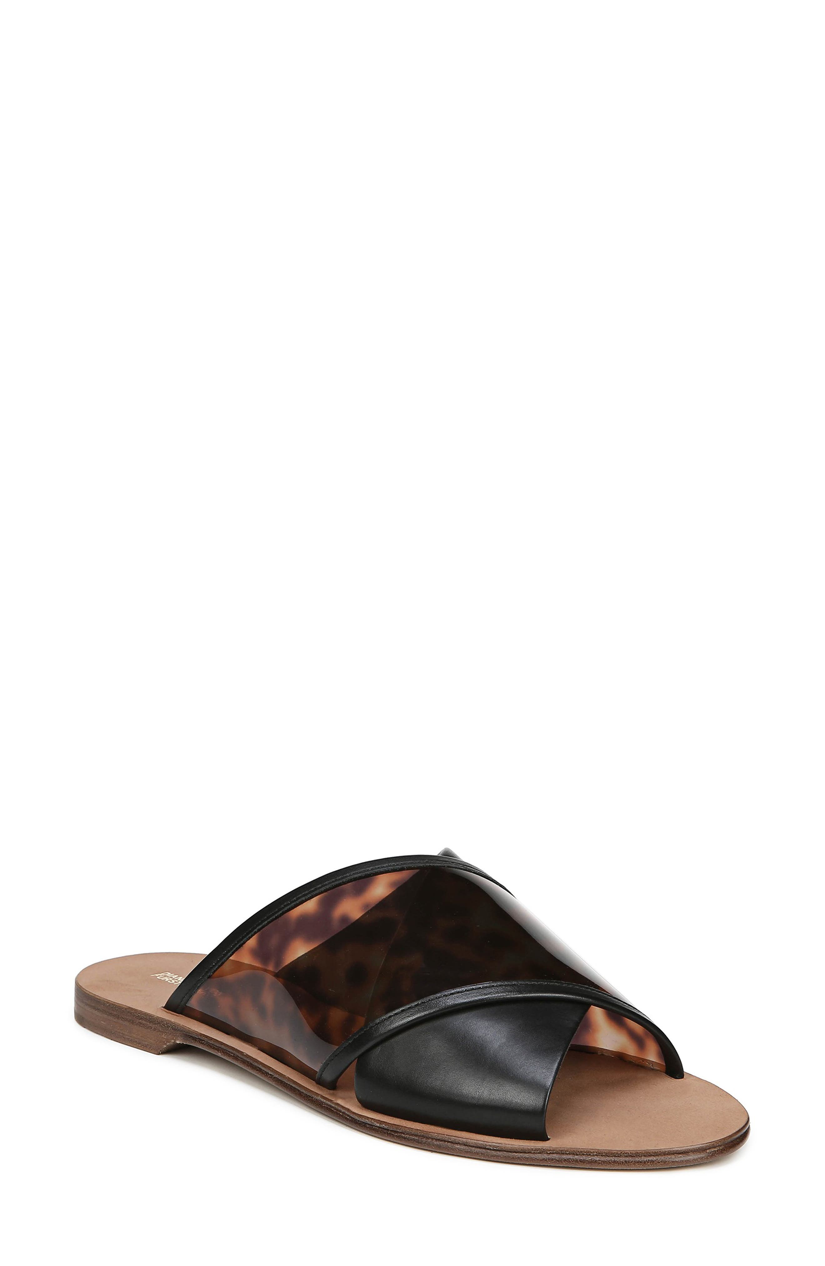 Bailie-4 Crisscross Slide Sandals in Black Multi