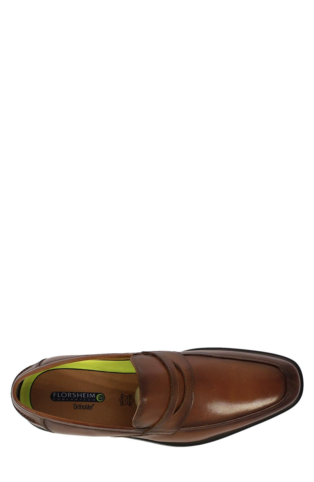 'Heights' Penny Loafer,                             Alternate thumbnail 3, color,                             COGNAC LEATHER