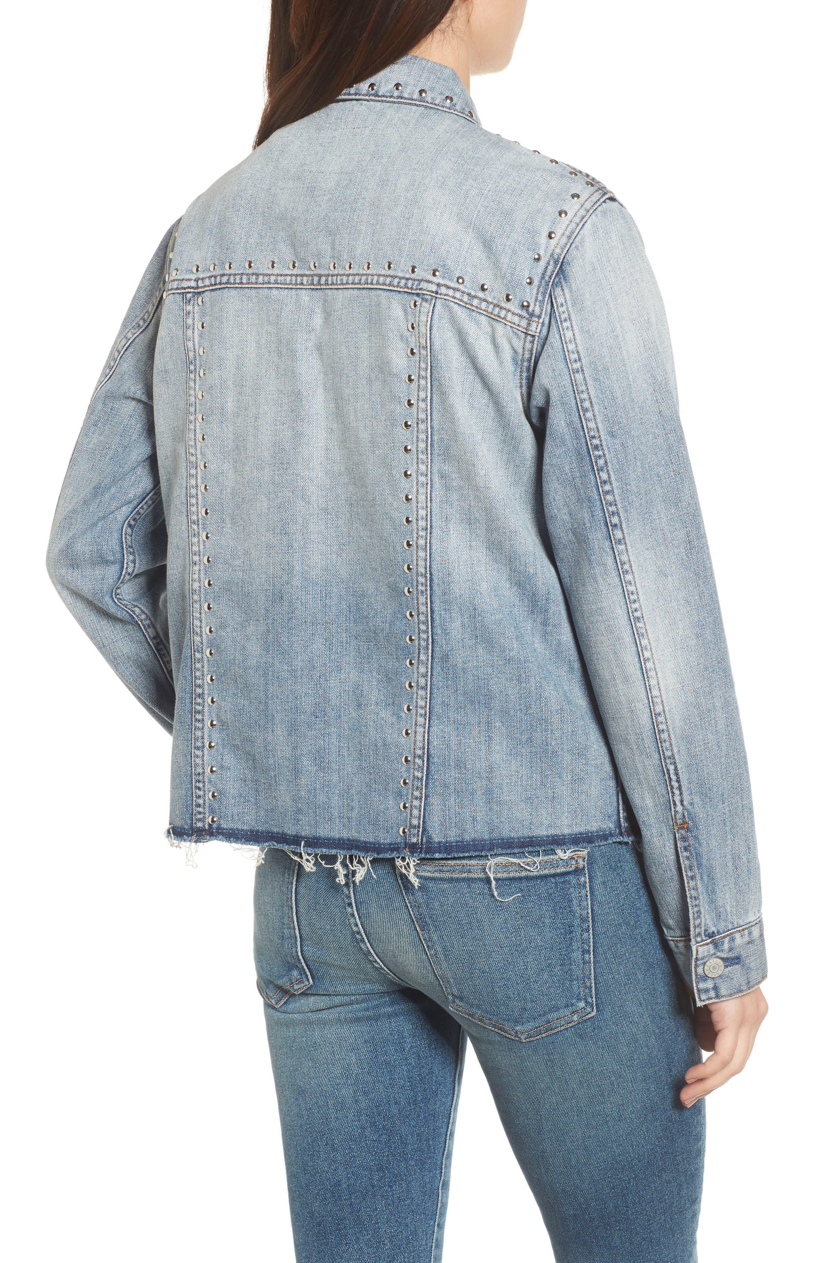 Knox Studded Denim Jacket,                             Alternate thumbnail 2, color,
