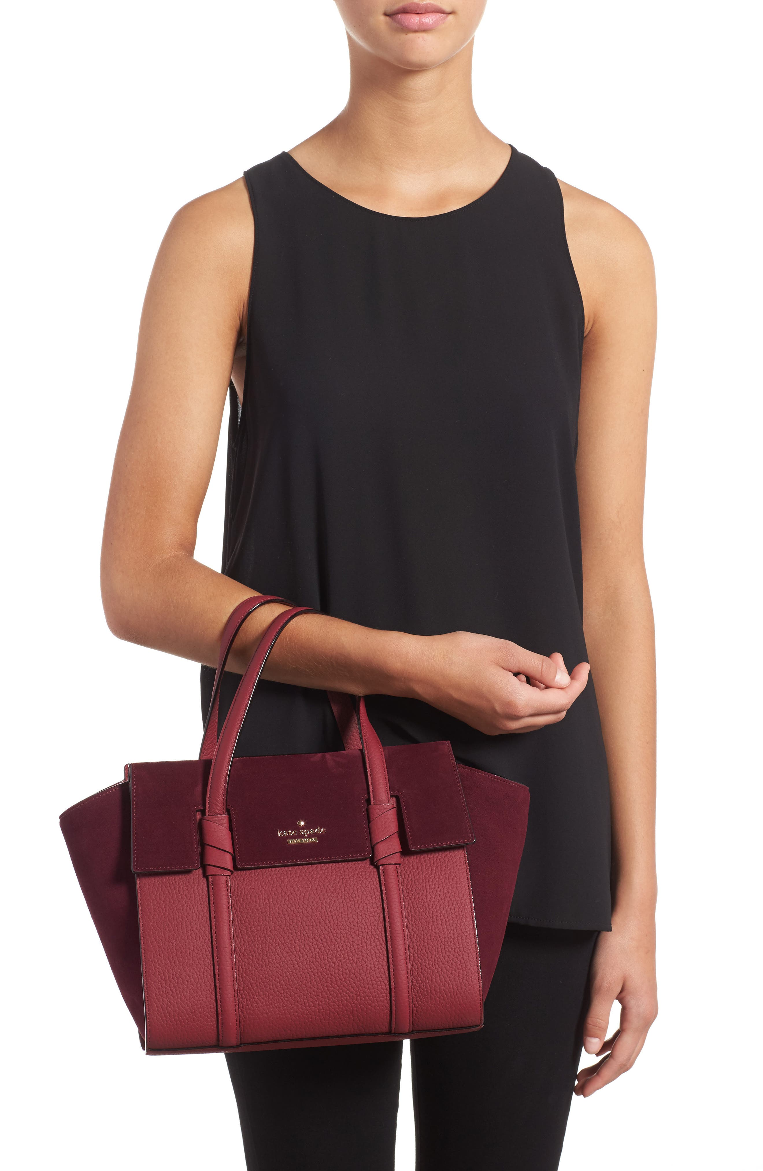 daniels drive - small abigail suede & leather tote,                             Alternate thumbnail 2, color,                             633