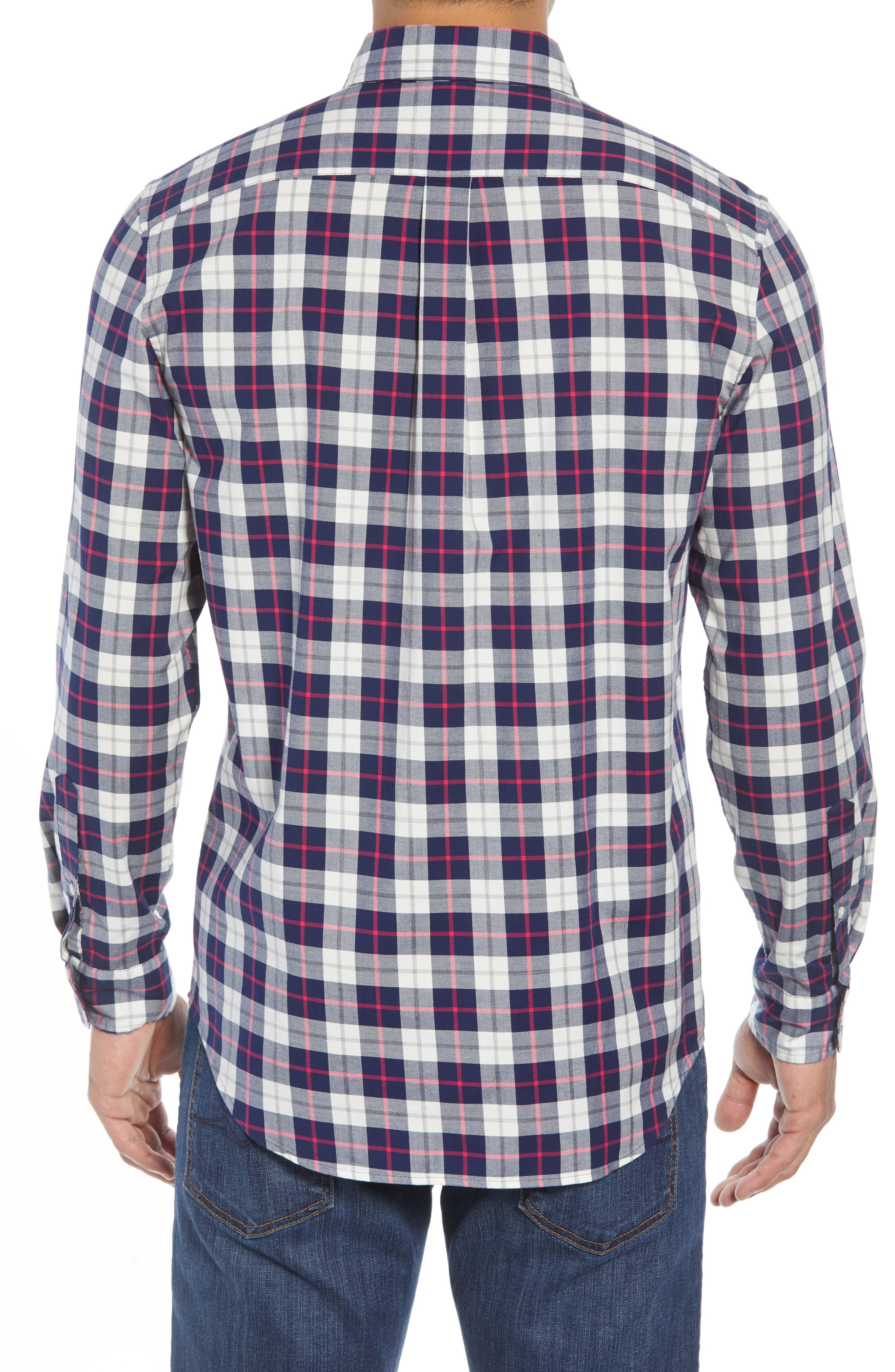 Riverbank Regular Fit Plaid Sport Shirt,                             Alternate thumbnail 3, color,                             KATAMA BAY