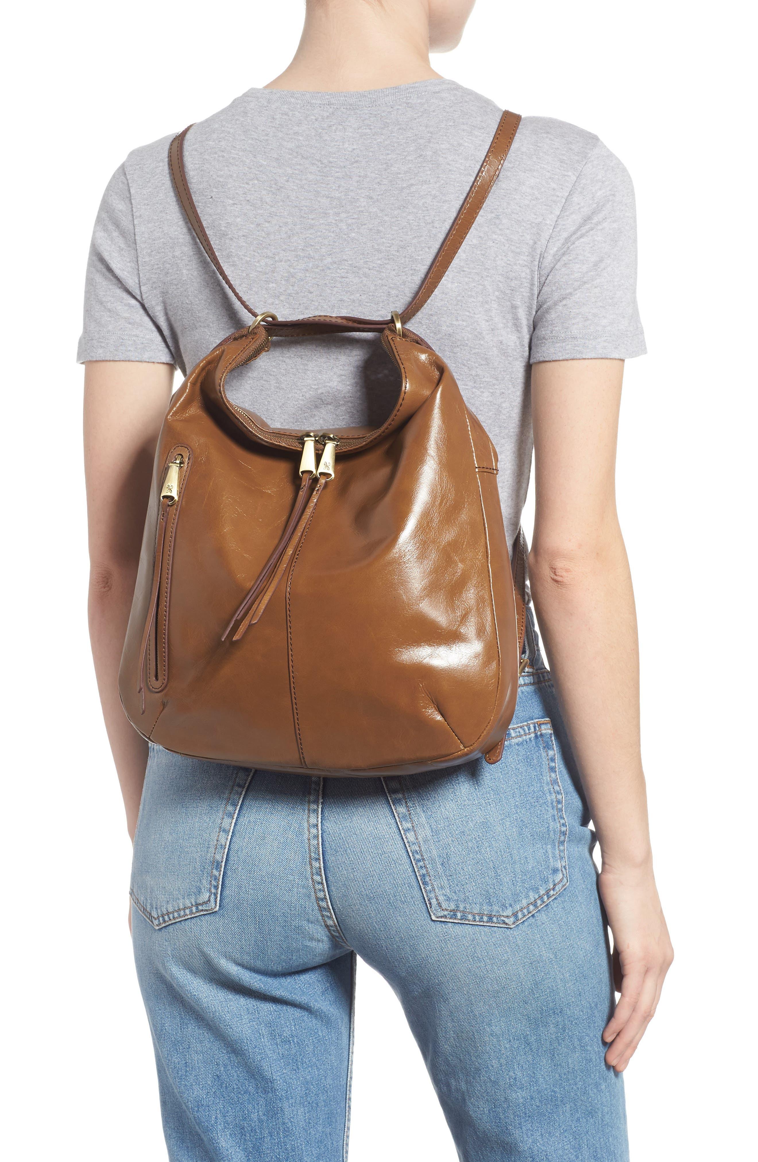 Merrin Leather Backpack,                             Alternate thumbnail 2, color,                             MINK