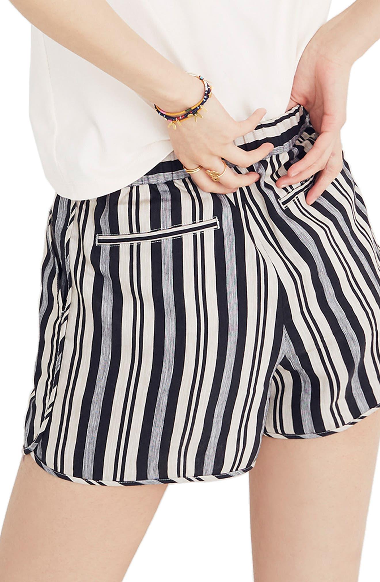 Stripe Pull-On Shorts,                             Alternate thumbnail 2, color,                             STONE