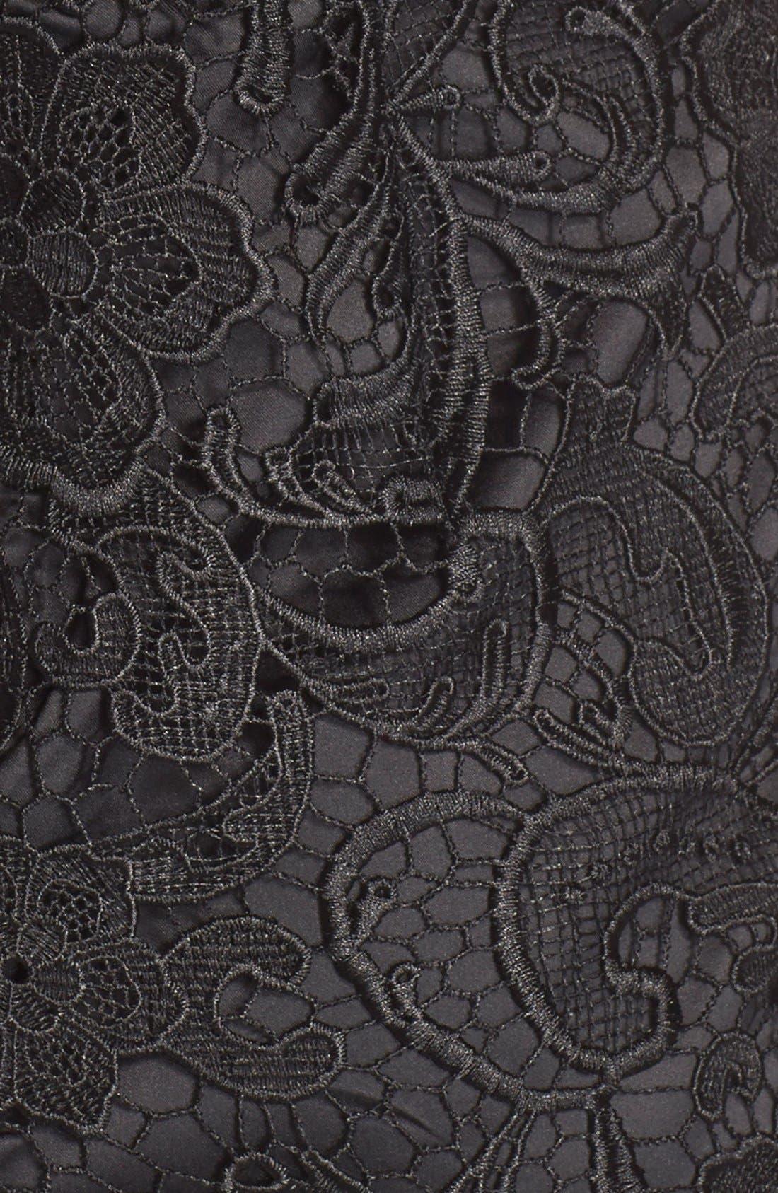 Illusion Bodice Lace Sheath Dress,                             Alternate thumbnail 32, color,