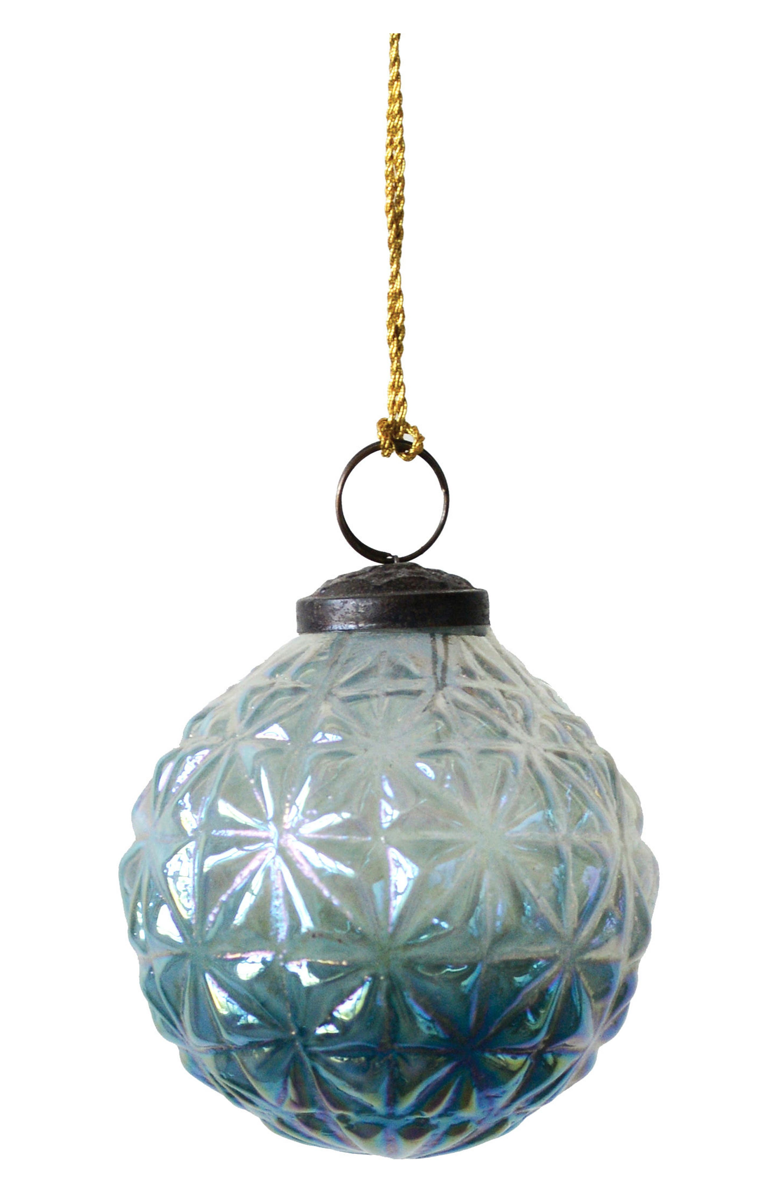 Frosted Glass Ball Ornament, Main, color, 400