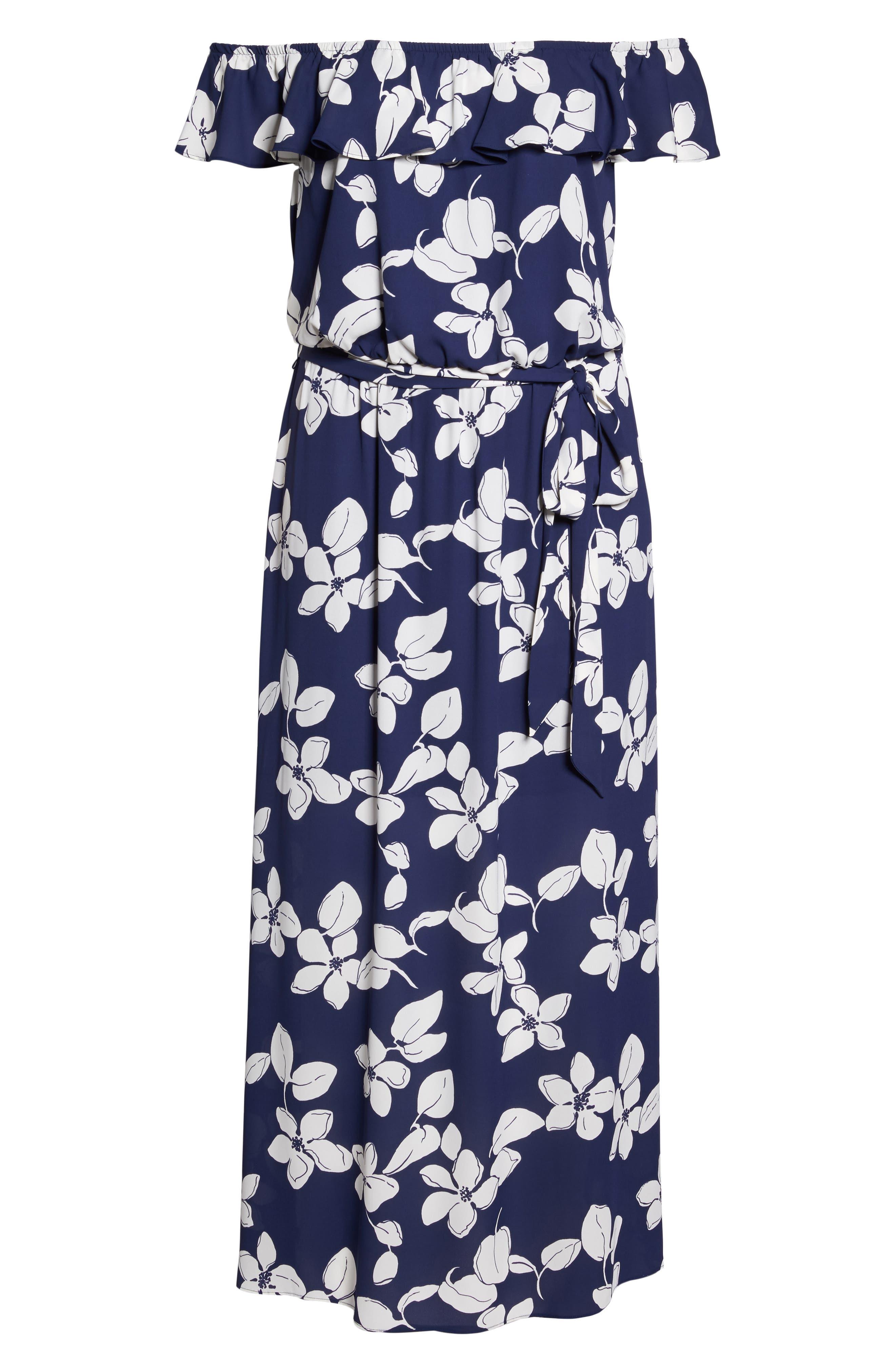 Simple Delight Ruffle Maxi Dress,                             Alternate thumbnail 6, color,                             480