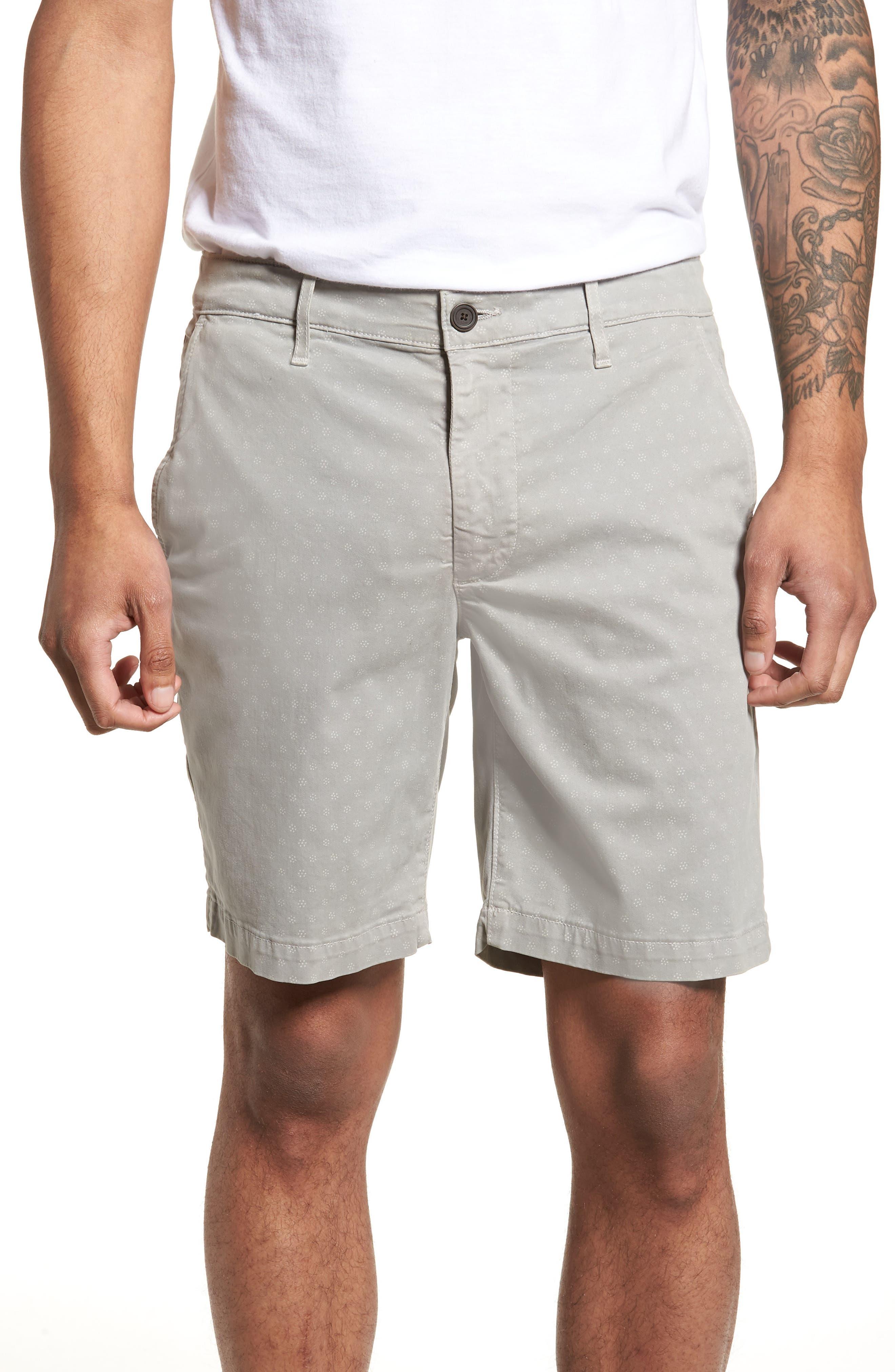 Flora Print Slim Fit Shorts,                         Main,                         color, 020