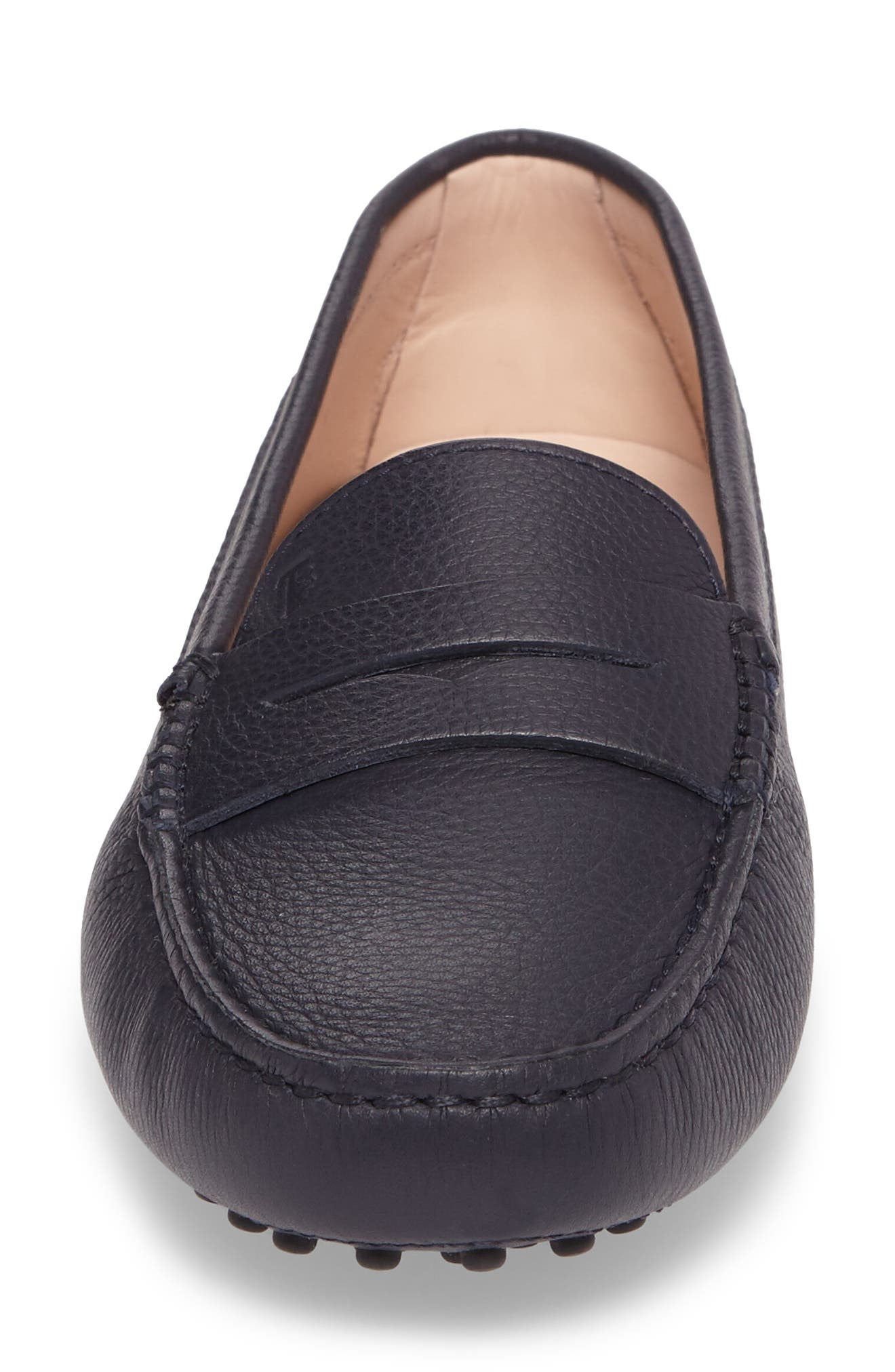 'Gommini' Driving Moccasin,                             Alternate thumbnail 4, color,                             NAVY LEATHER