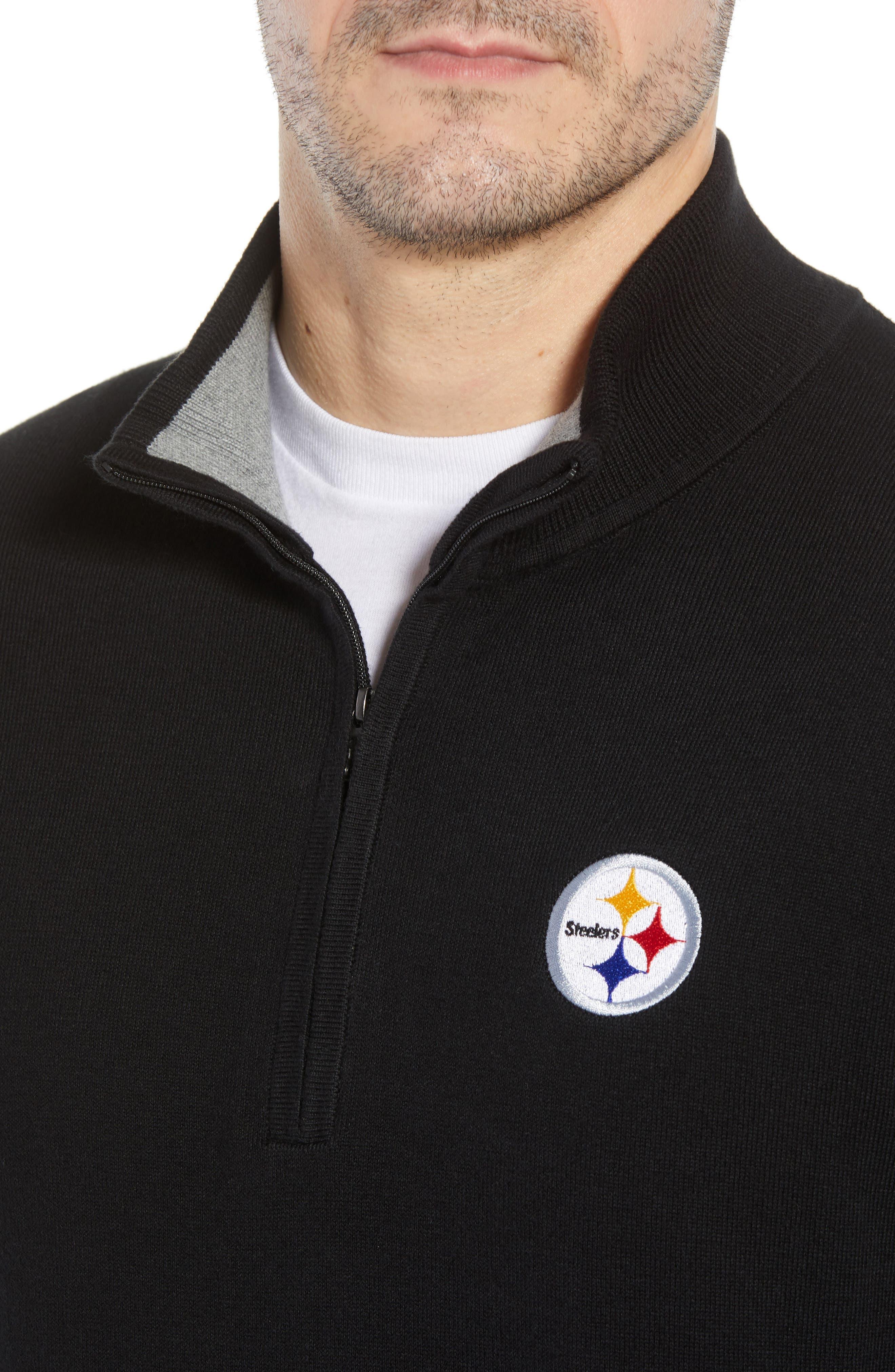 Pittsburgh Steelers - Lakemont Regular Fit Half Zip Sweater,                             Alternate thumbnail 4, color,                             001