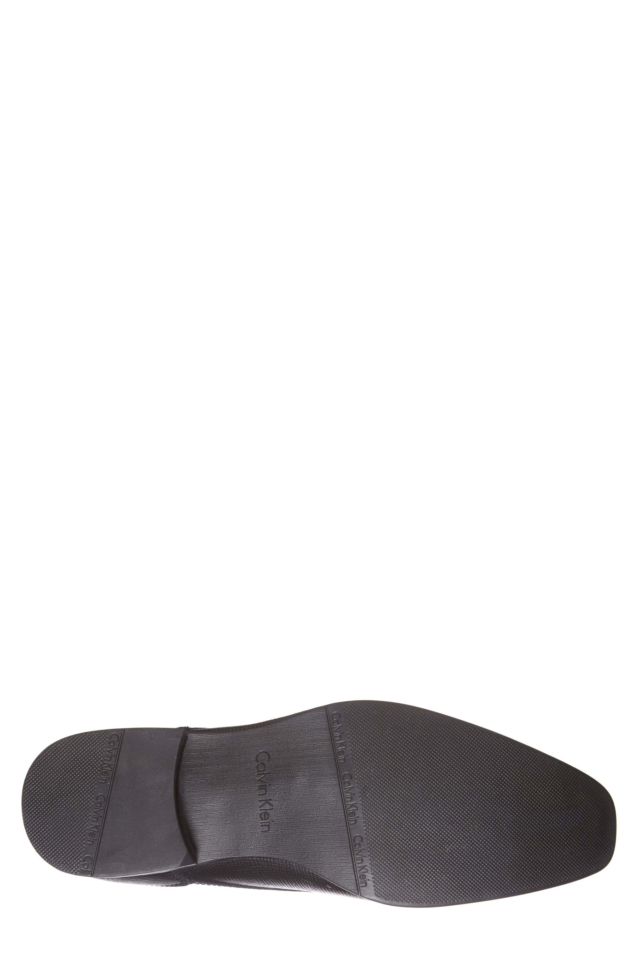 'Brodie' Plain Toe Derby,                             Alternate thumbnail 4, color,                             BLACK