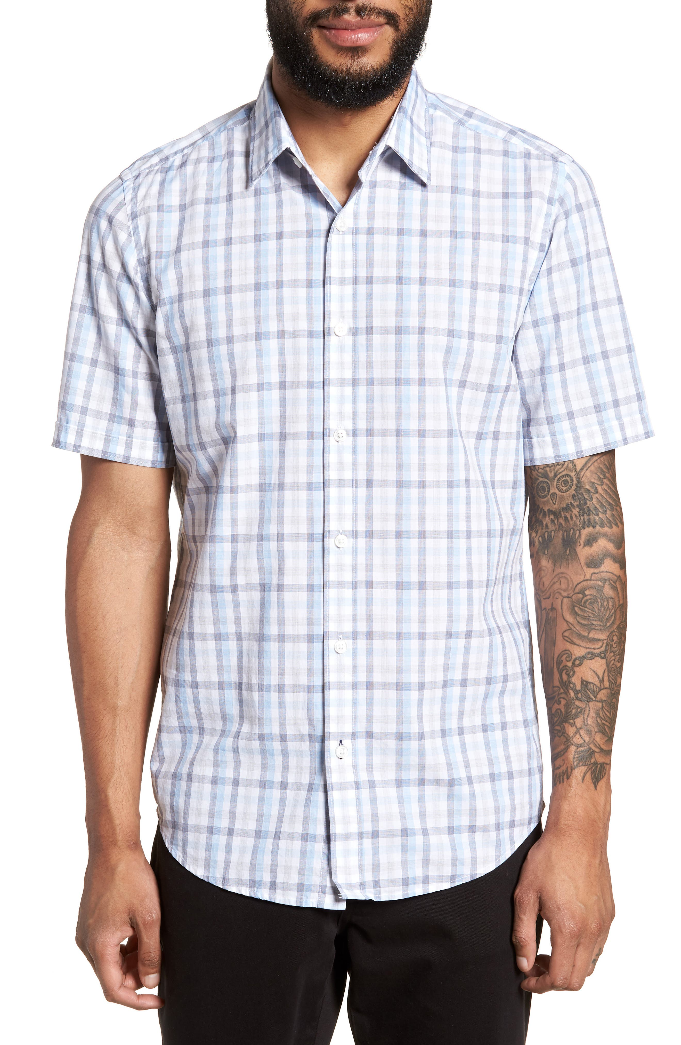 Luka Slim Fit Short Sleeve Sport Shirt,                             Main thumbnail 1, color,