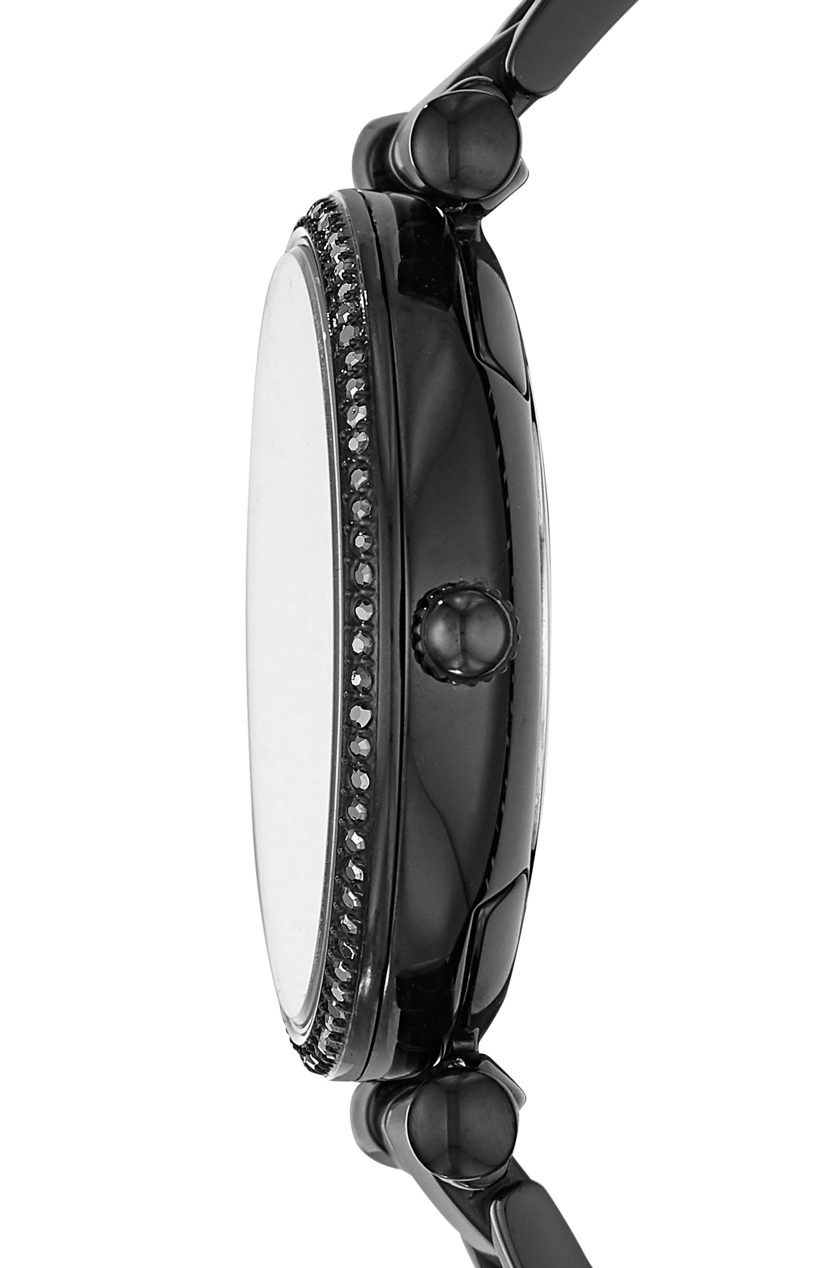Carlie T-Bar Crystal Bracelet Watch, 35mm,                             Alternate thumbnail 3, color,                             001