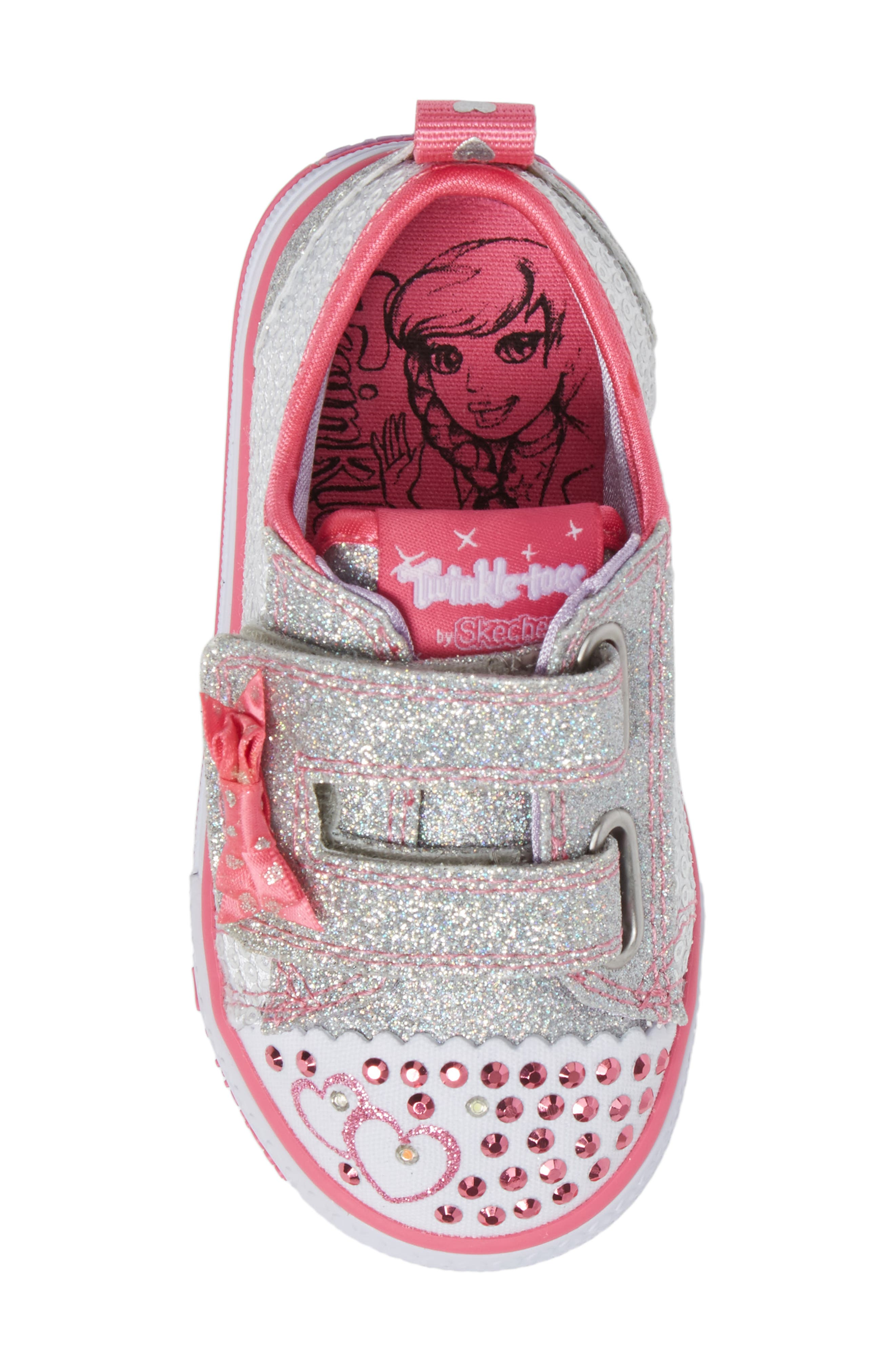 Shuffles - Itsy Bitsy Light-Up Sneaker,                             Alternate thumbnail 5, color,                             040