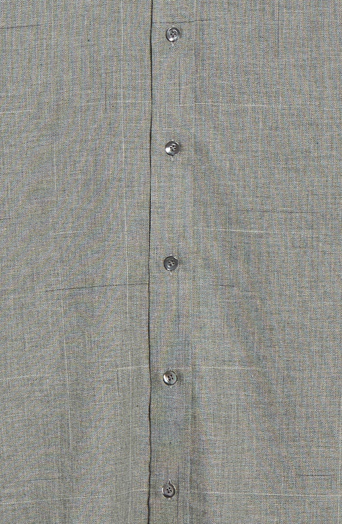Classic Fit Plaid Sport Shirt,                             Alternate thumbnail 6, color,                             BLUE
